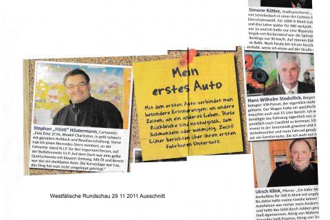 Westfälische Rundschau 29 11 2011 Ausschnitt