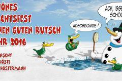 Weihnachtskarte 2016 Arschbombe