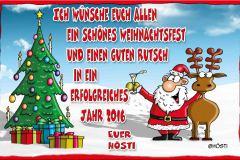 Weihnachtsmotiv Weihnachtskarte für Kunden 2015