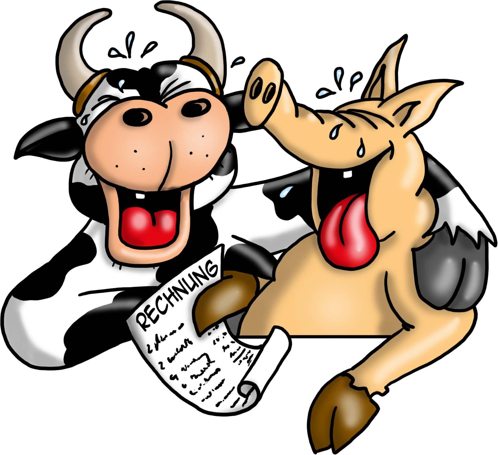 001 Kuh und schwein lachend frei