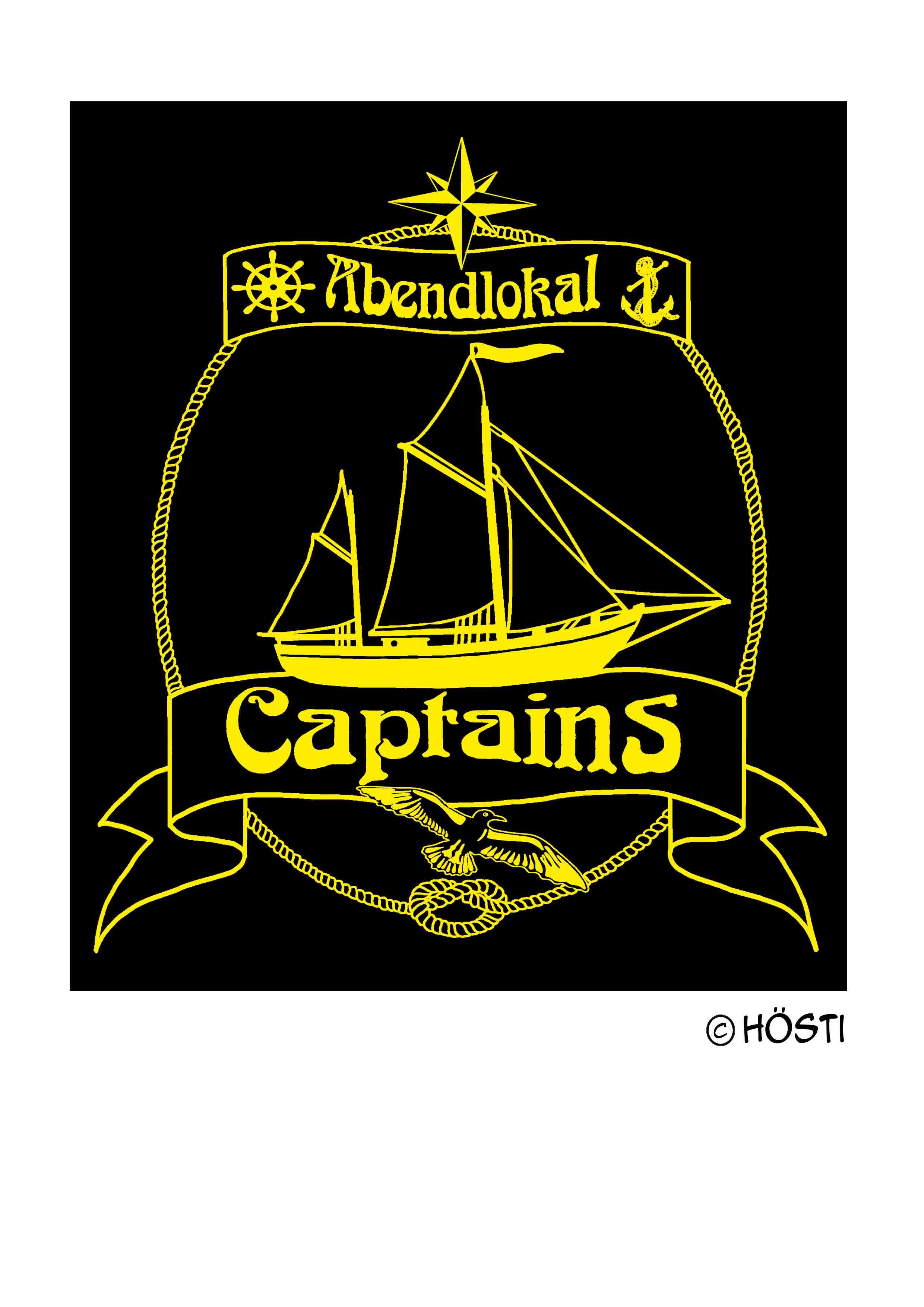 Captains Logo SEGELSCHIFF outline STICK