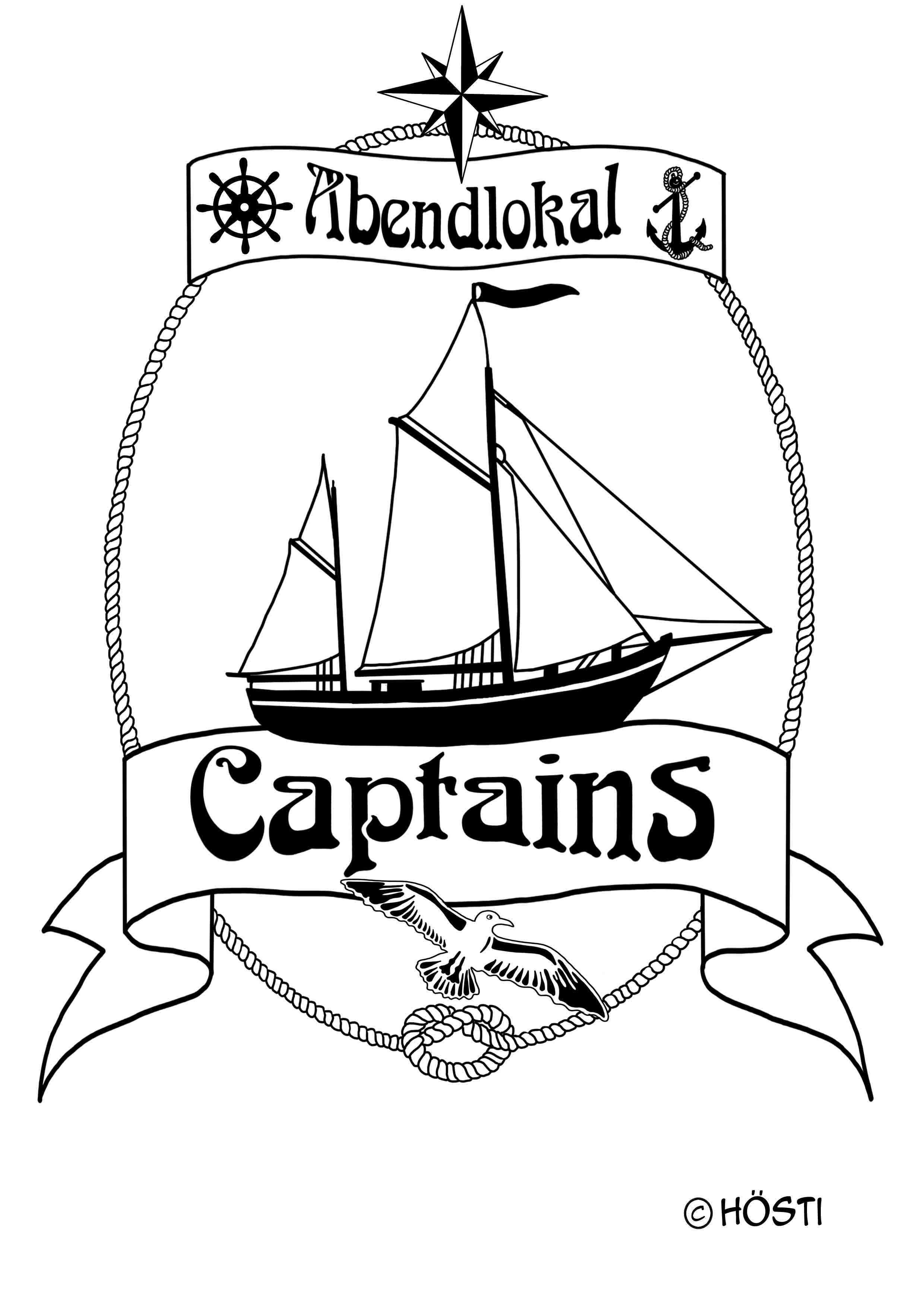 Captains Logo SEGELSCHIFF outline