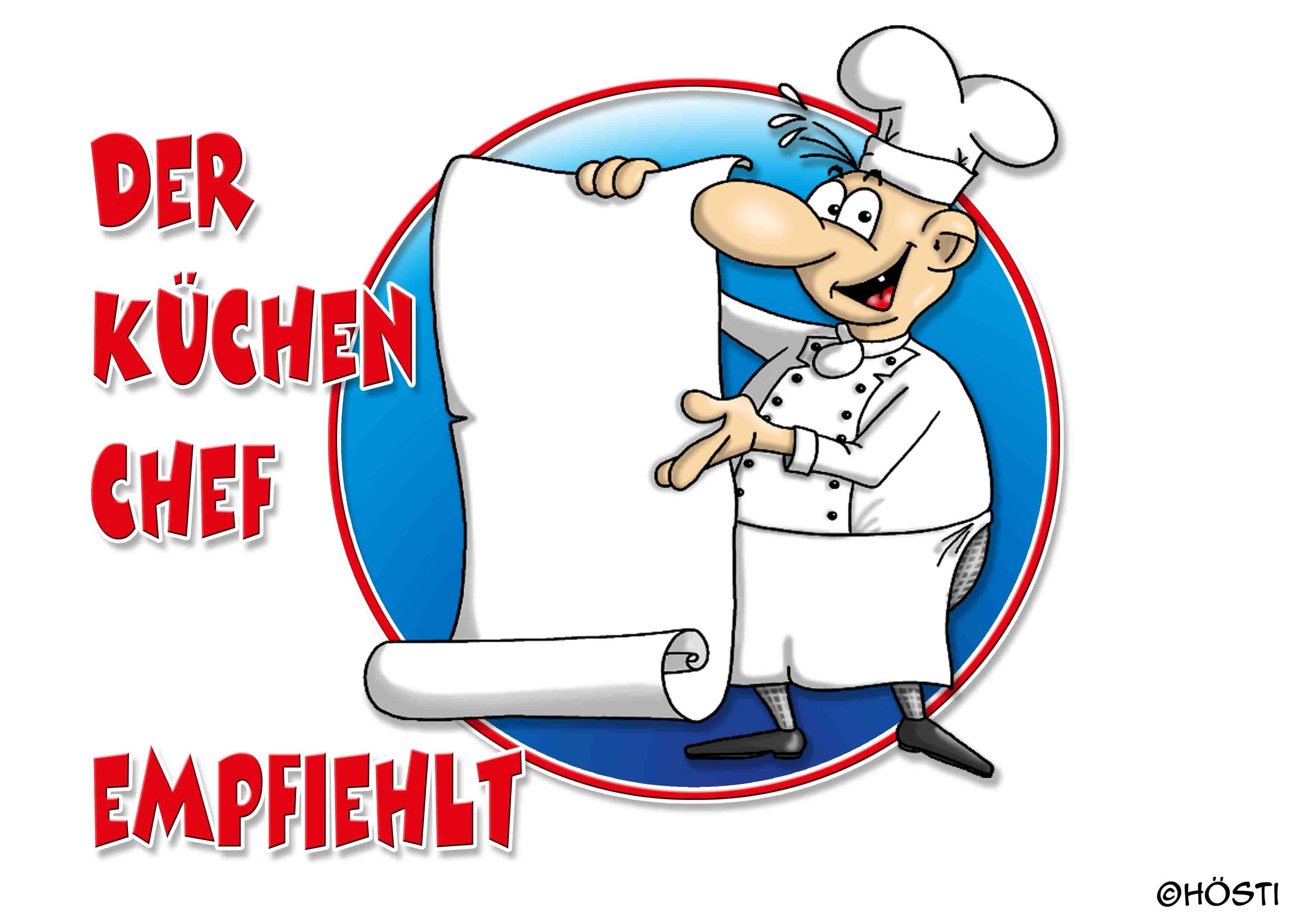 Der Küchenchef empfiehlt offen