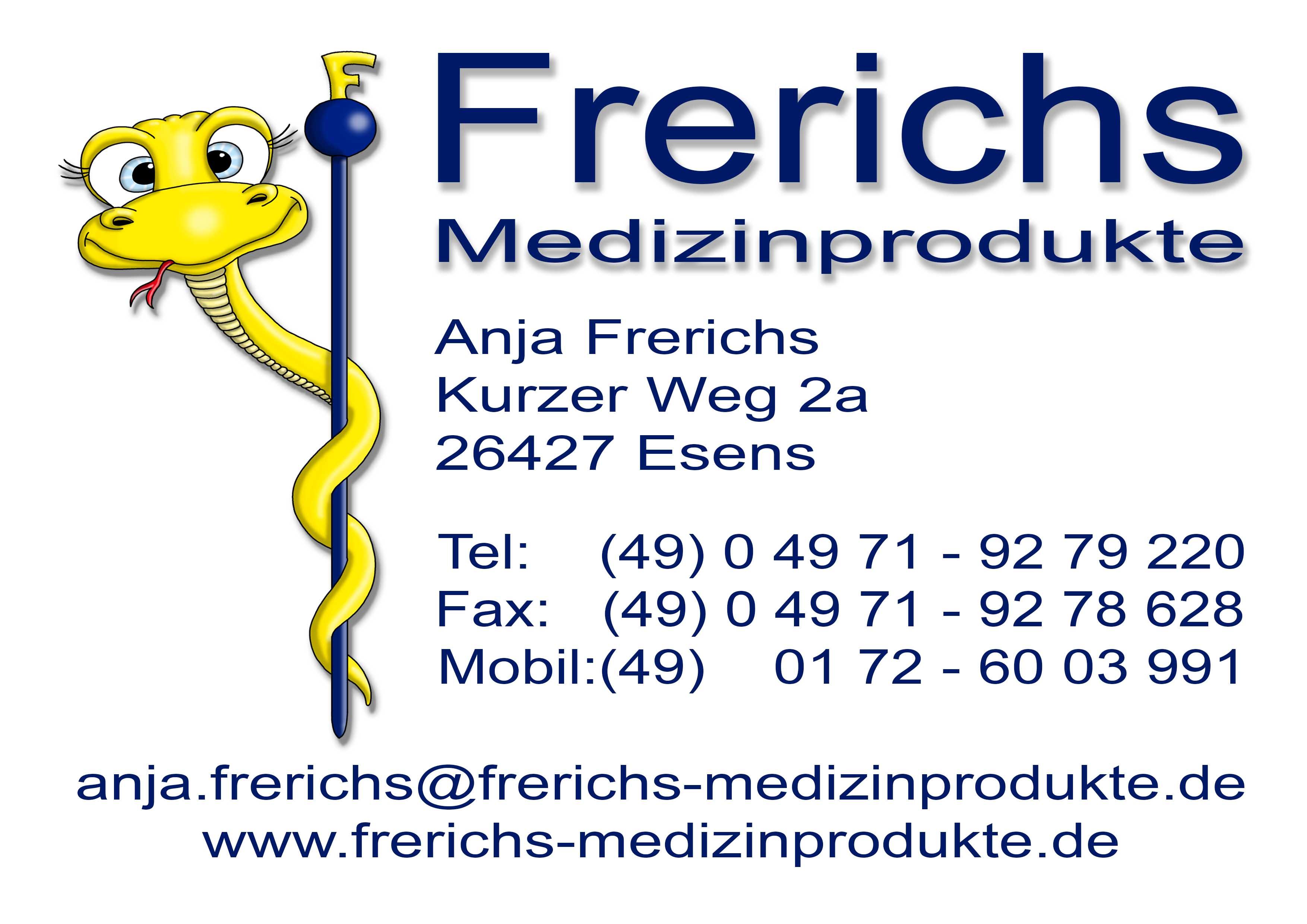 Frerichs Logo Visitenkarte
