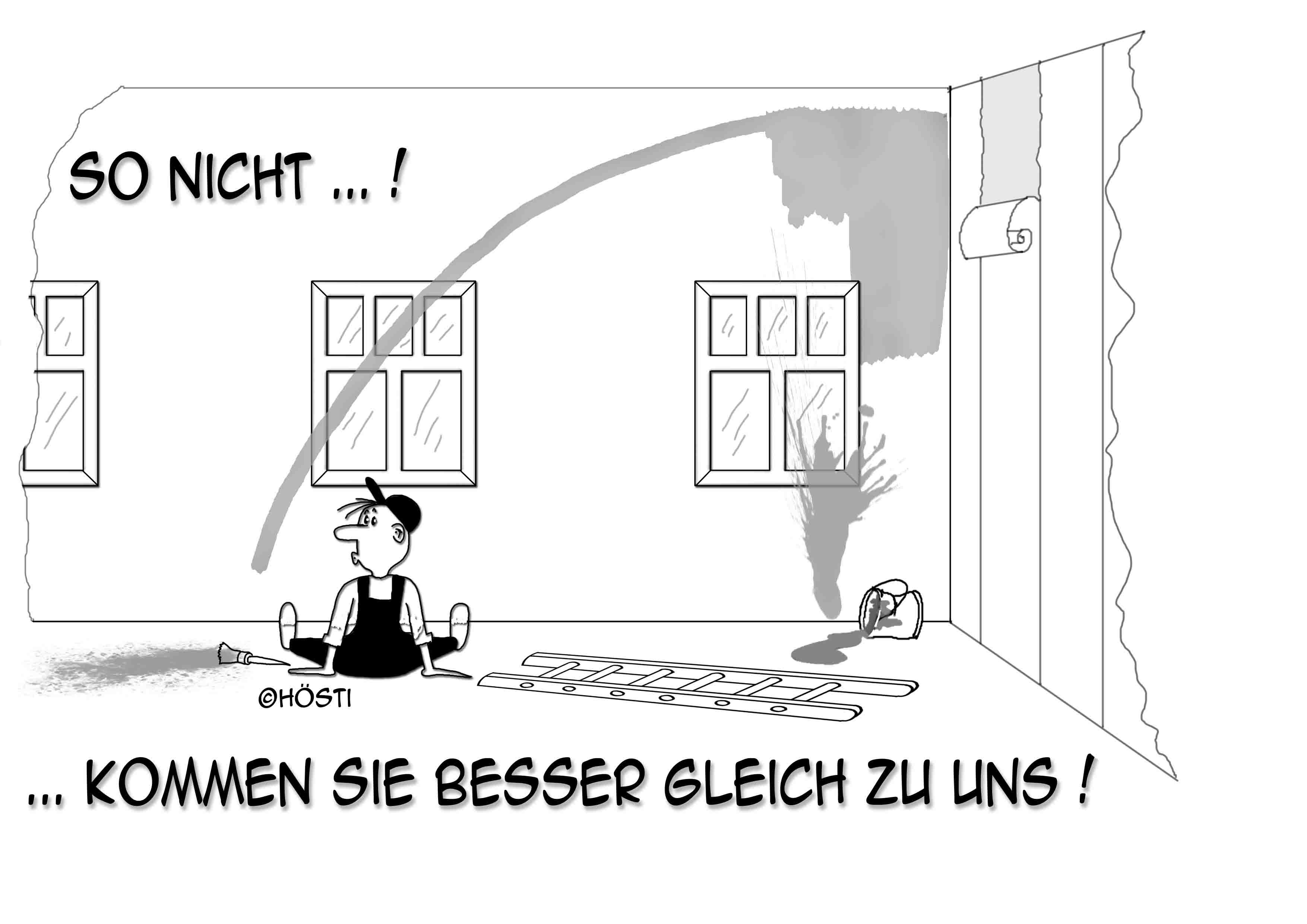 Holger Janssen Maler Cartoon sw abg 2