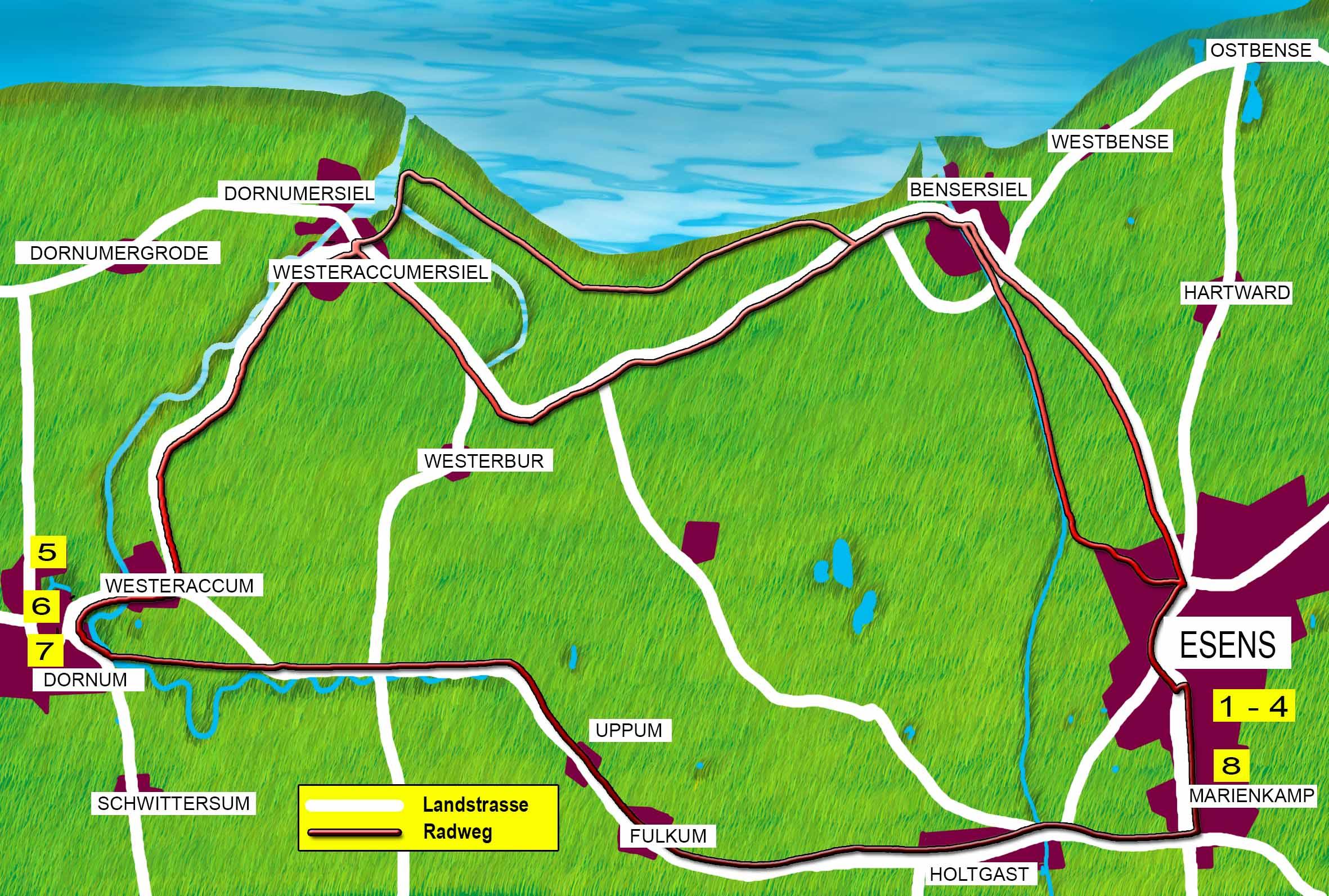 Karte Radwanderweg neu