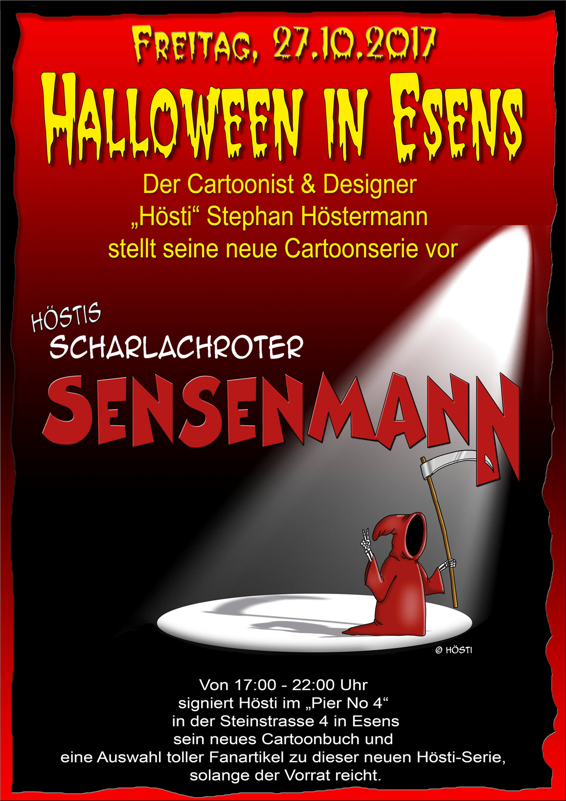 Sensenmann Plakat Halloween 2017