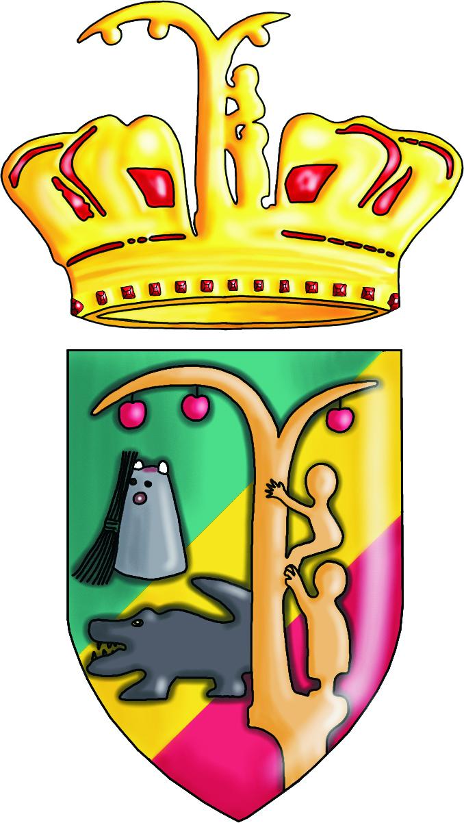 Wappen mit Krone mit Schatten abg frei