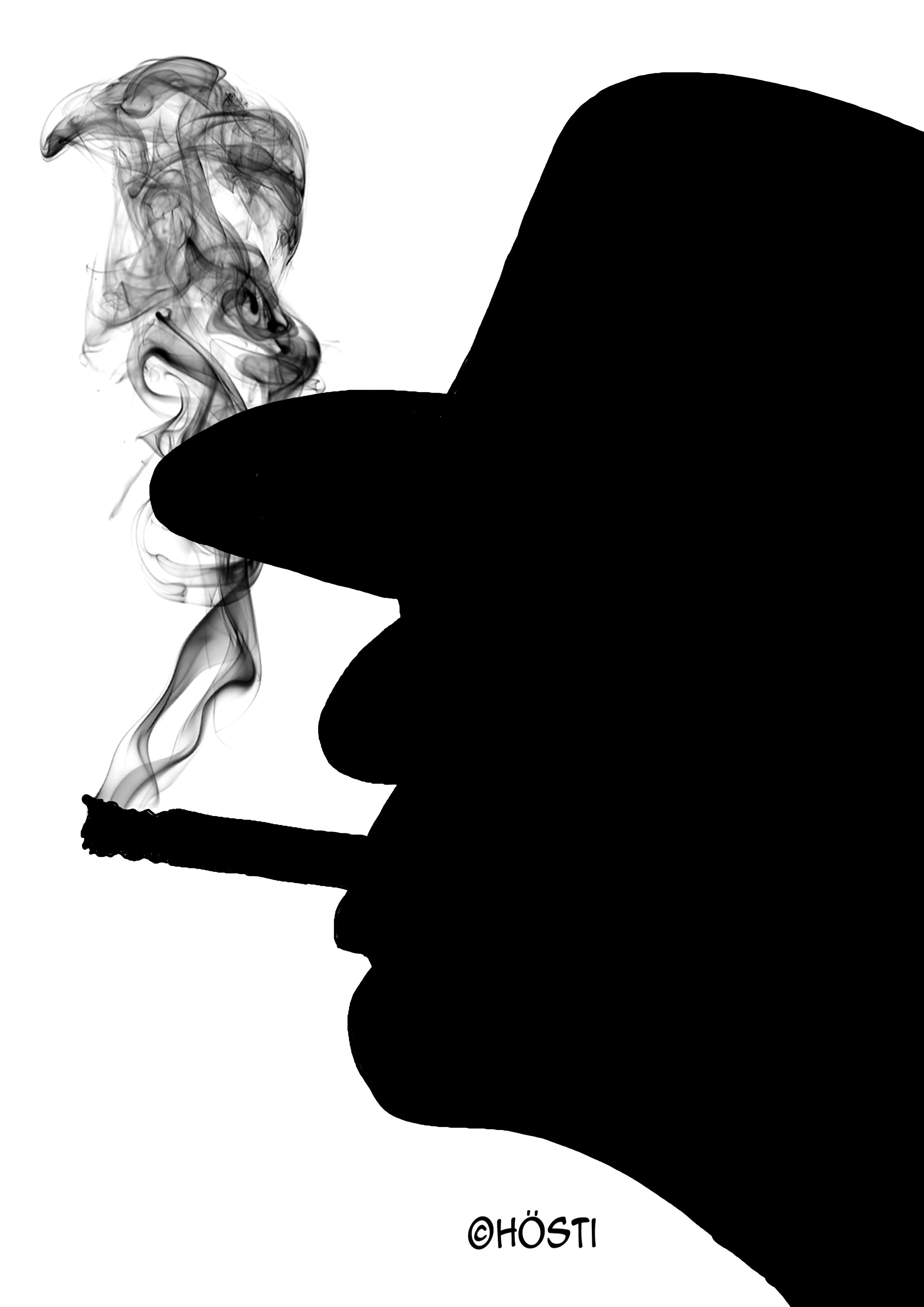 udo rauchend 3 schwarz