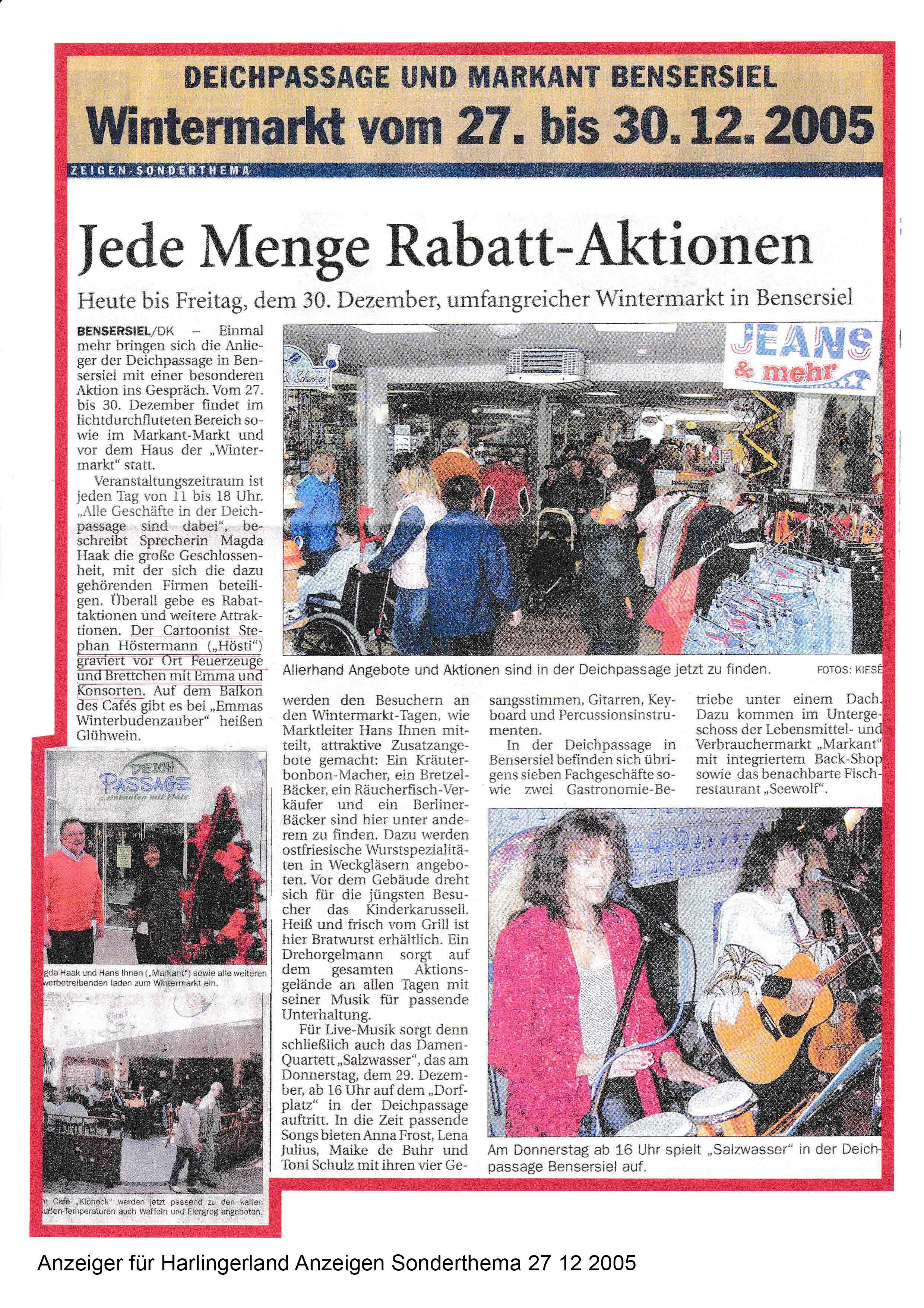 Anzeiger für Harlingerland Anzeigen Sonderthema 27 12 2005