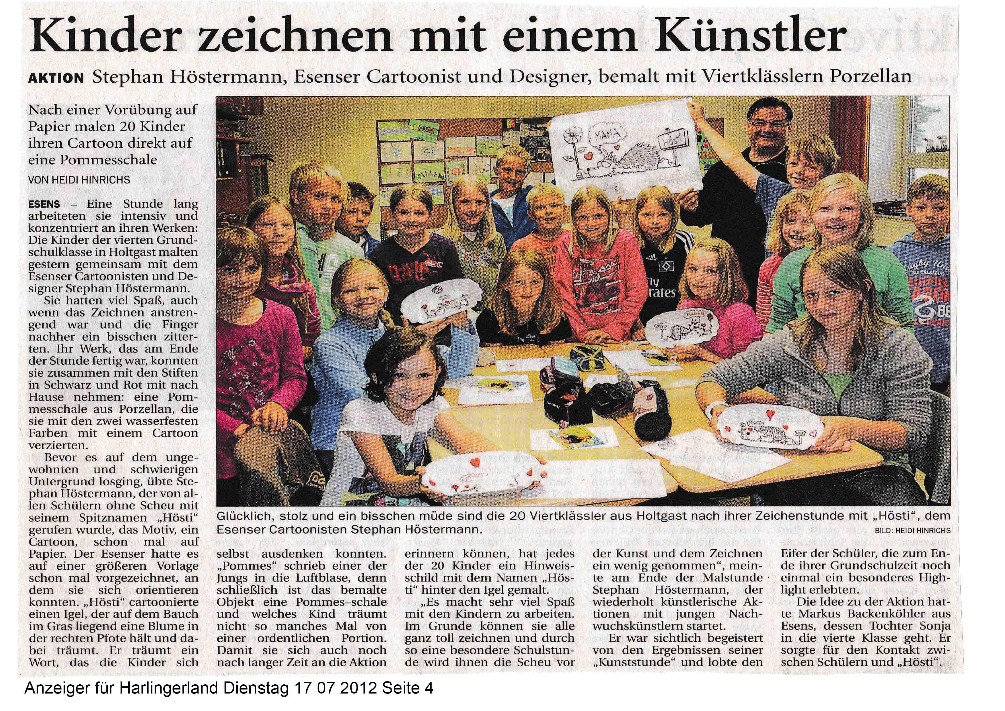 Anzeiger für Harlingerland Dienstag 17 07 2012 Seite 4