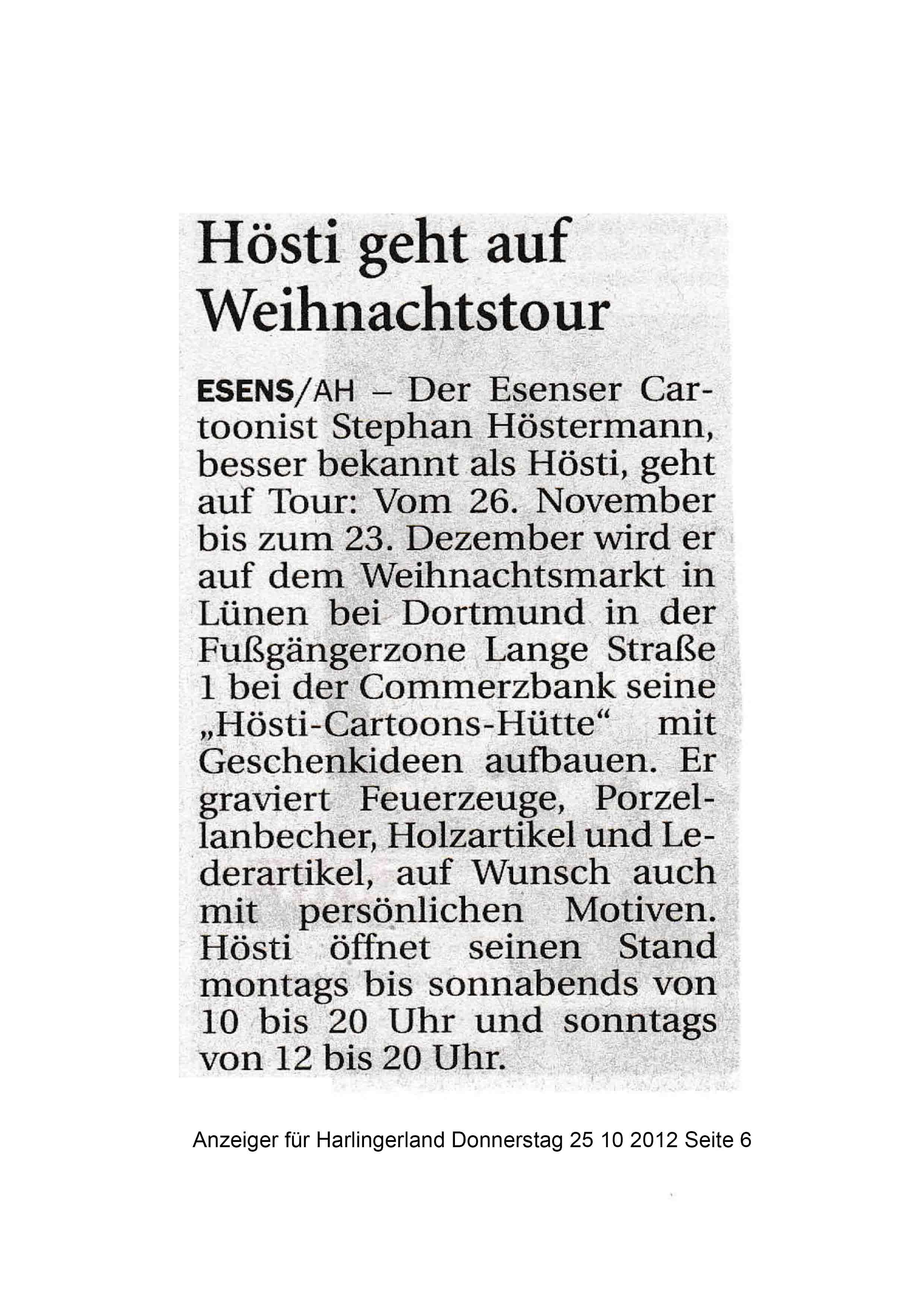 Anzeiger für Harlingerland Donnerstag 25 10 2012 Seite 6