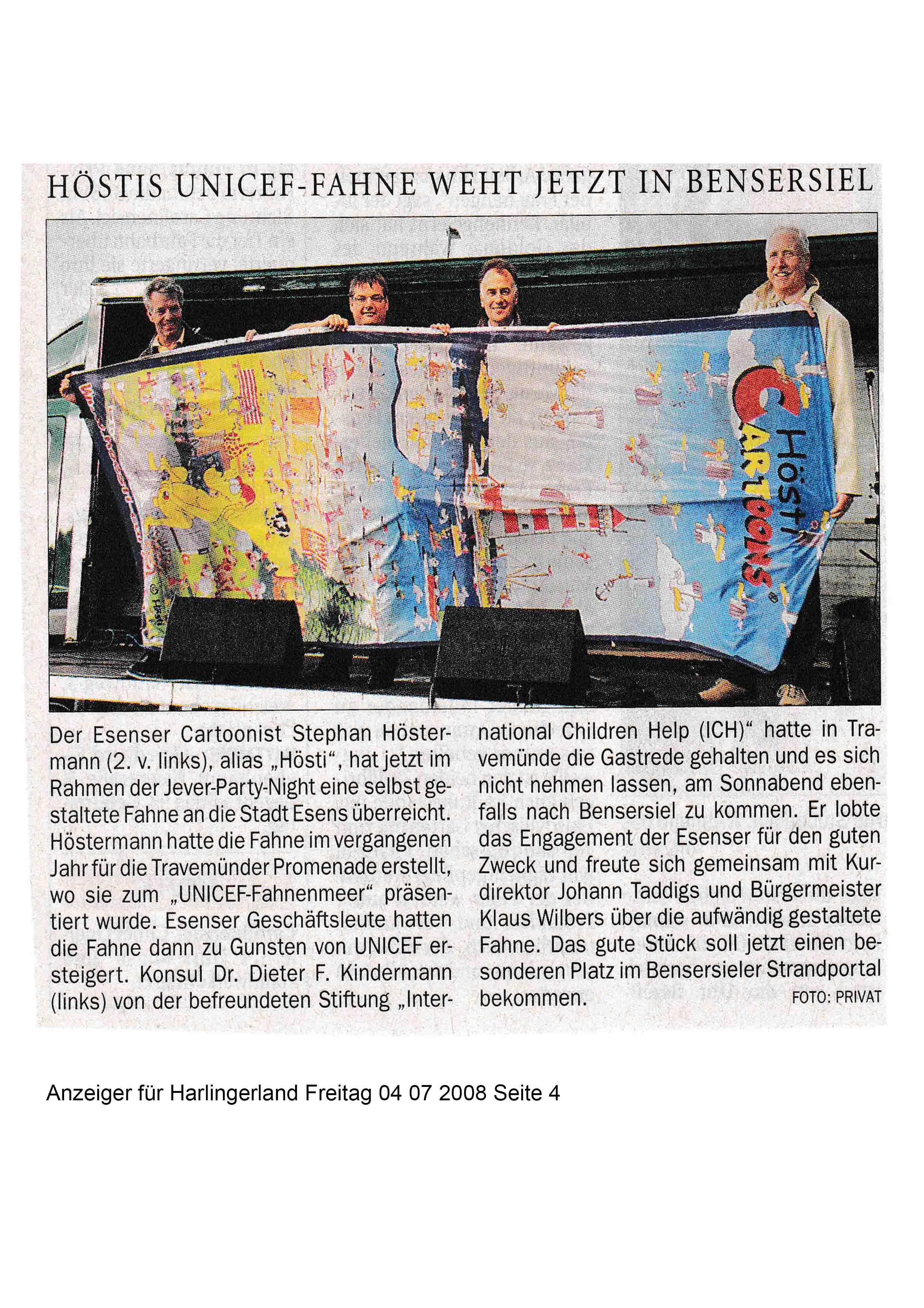 Anzeiger für Harlingerland Freitag 04 07 2008 Seite 4