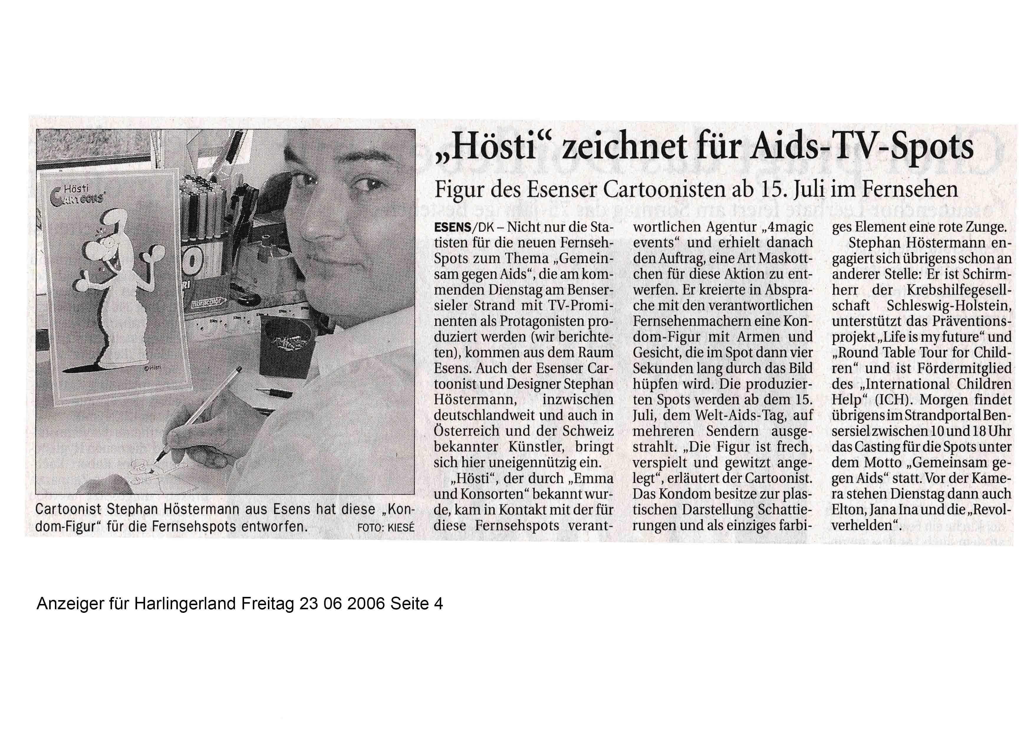 Anzeiger für Harlingerland Freitag 23 06 2006 Seite 4