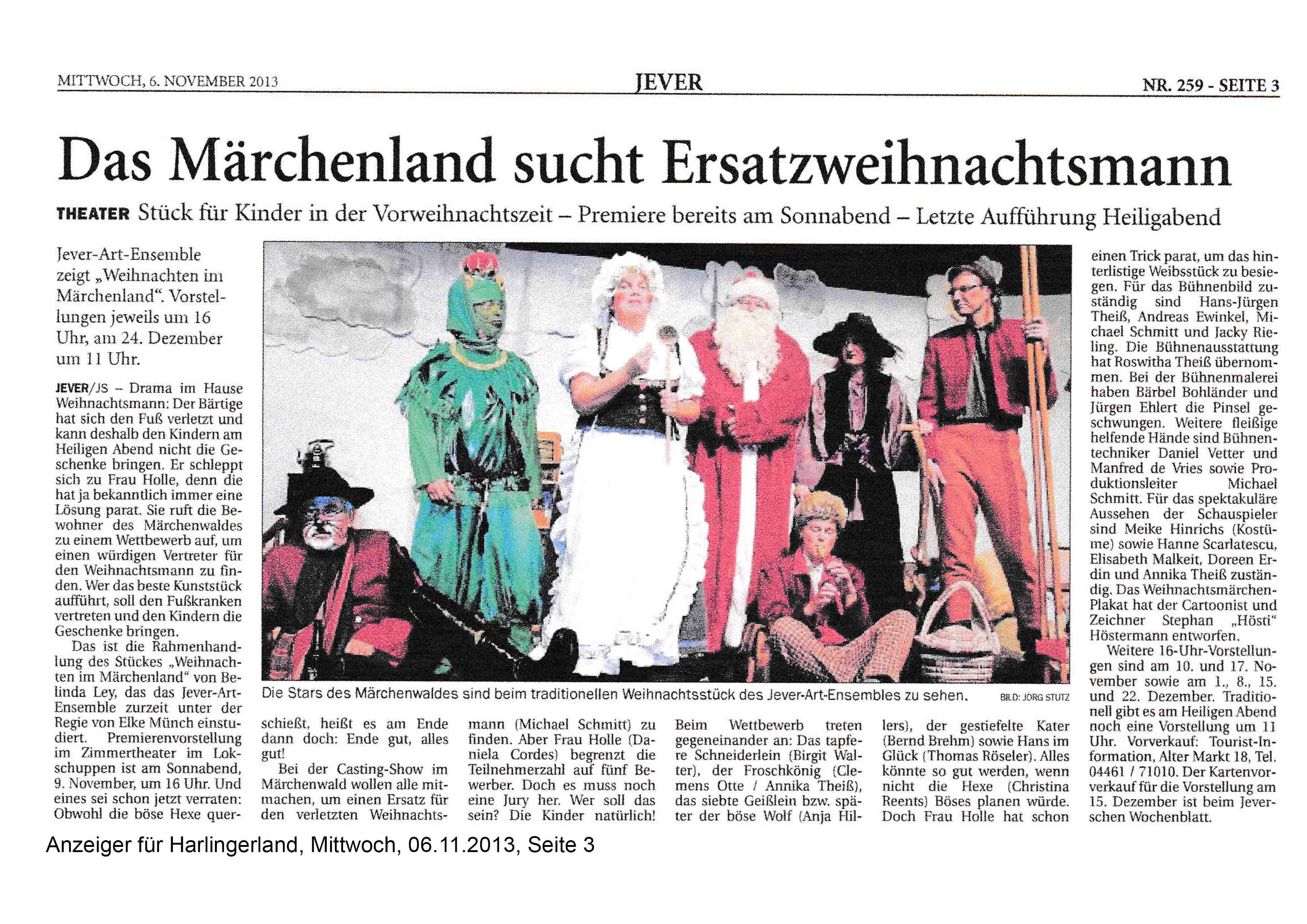 Anzeiger für Harlingerland Mittwoch 06 11 2013 Seite 3