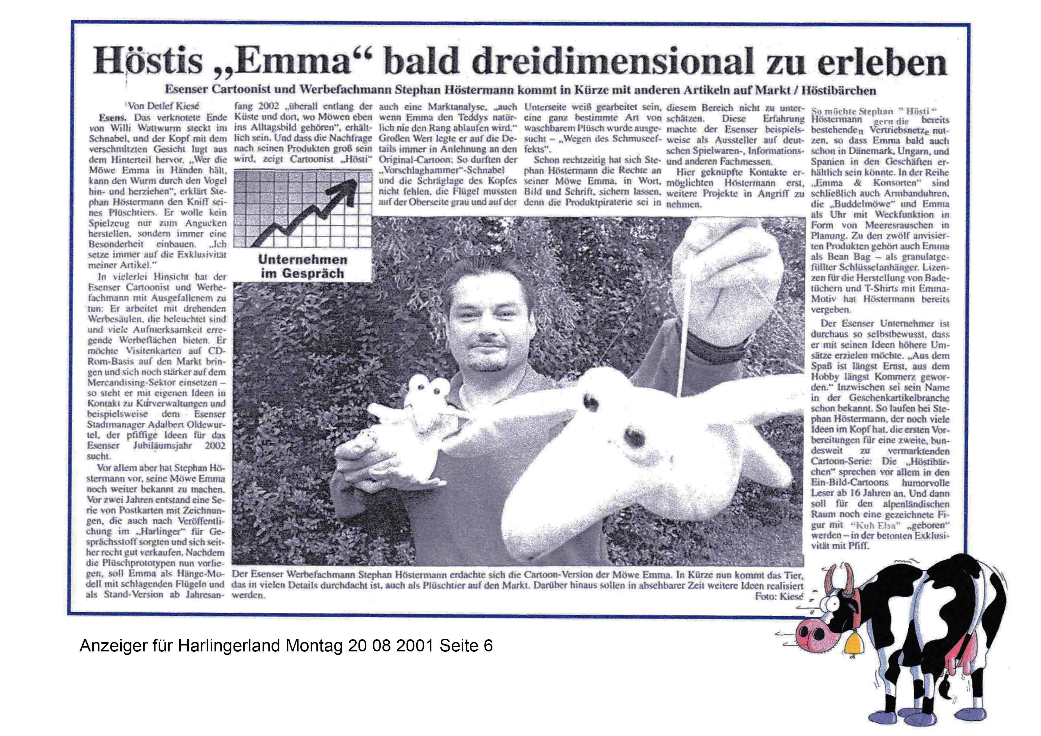 Anzeiger für Harlingerland Montag 20 08 2001 Seite 6