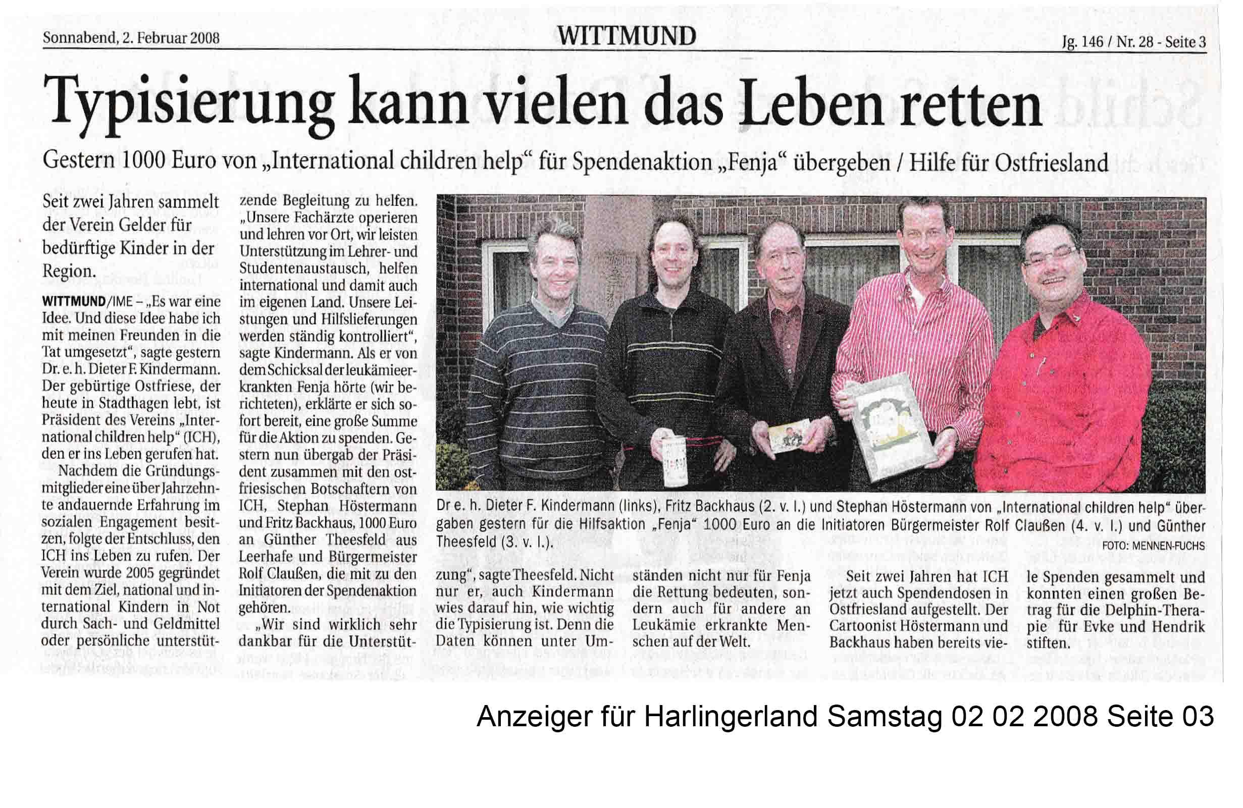 Anzeiger für Harlingerland Samstag 02 02 2008 Seite 03