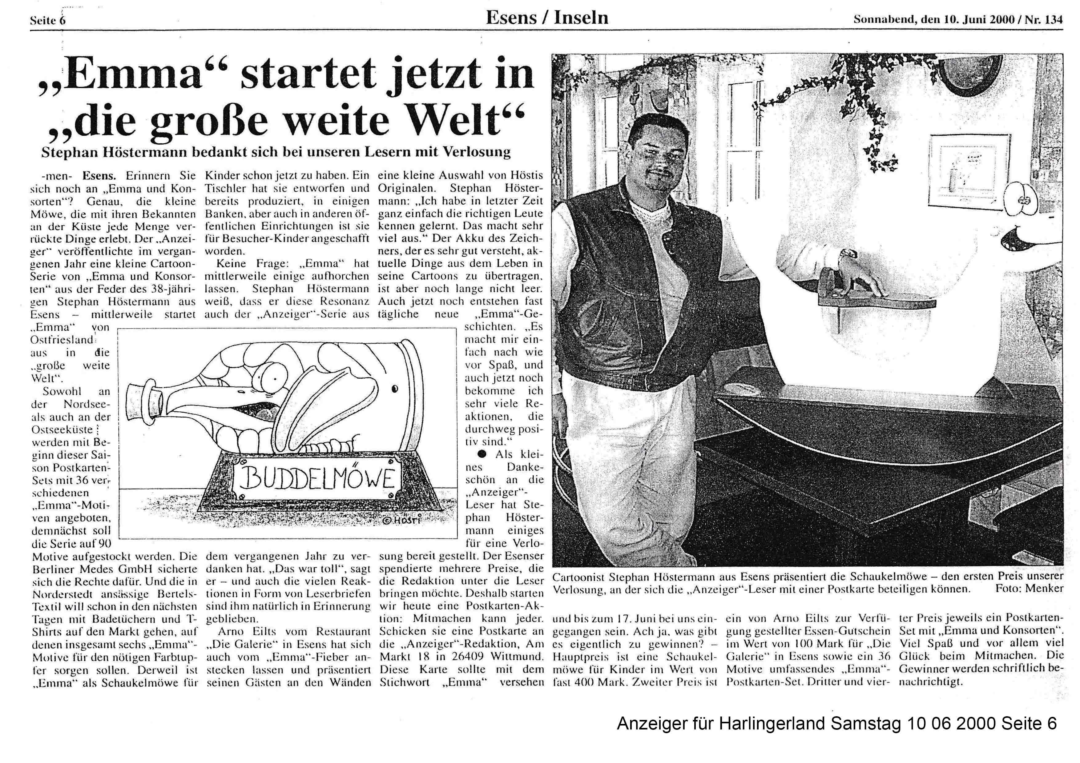 Anzeiger für Harlingerland Samstag 10 06 2000 Seite 6