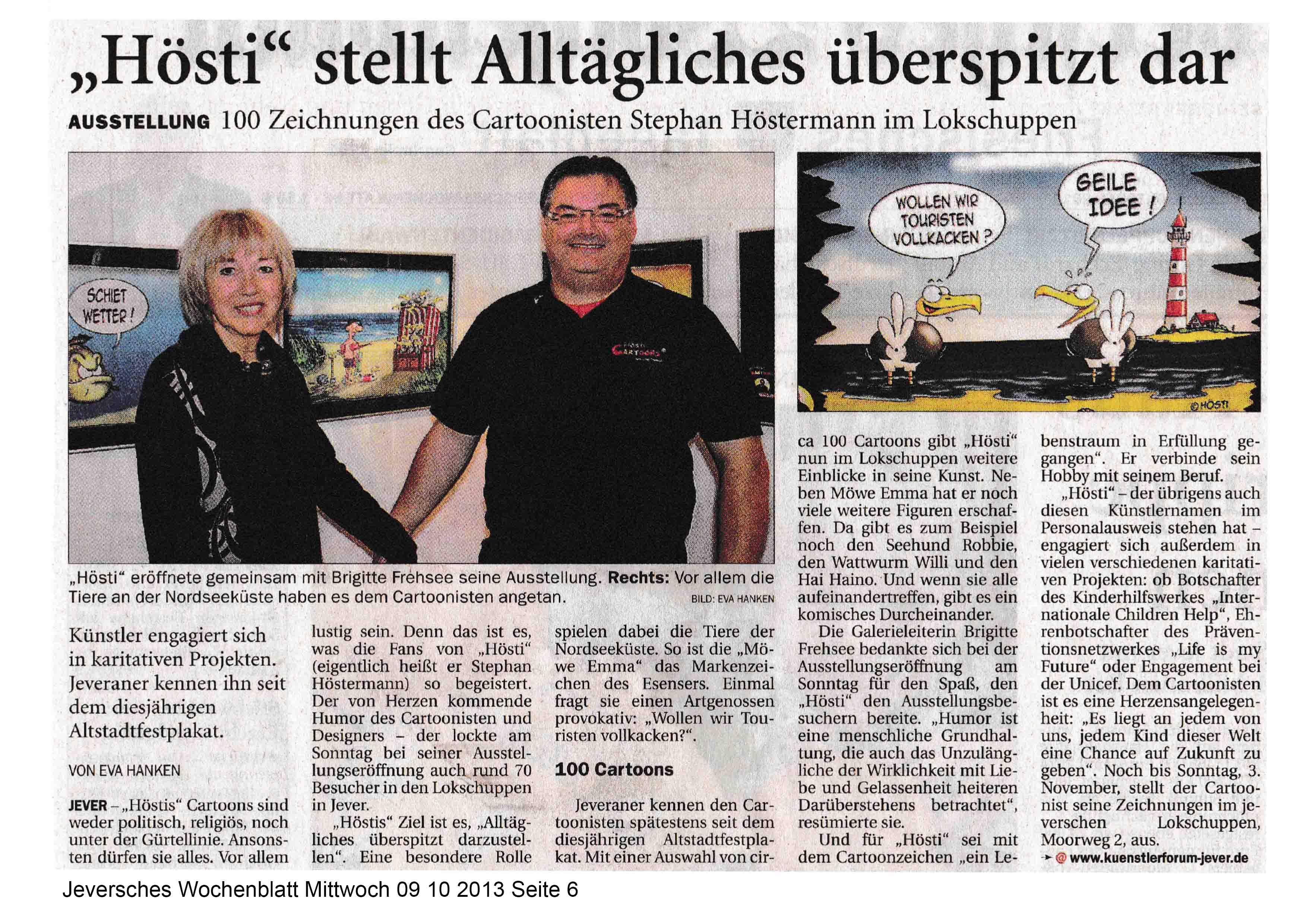 Jeversches Wochenblatt Mittwoch 09 10 2013 Seite 6