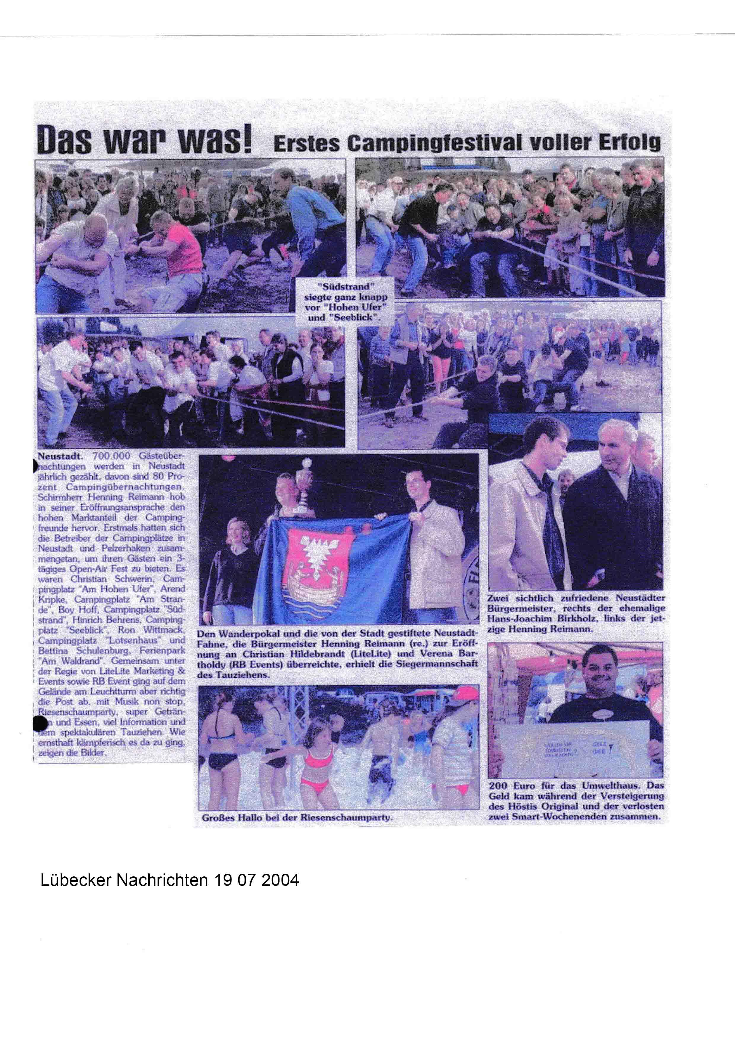 Lübecker Nachrichten 19 07 2004
