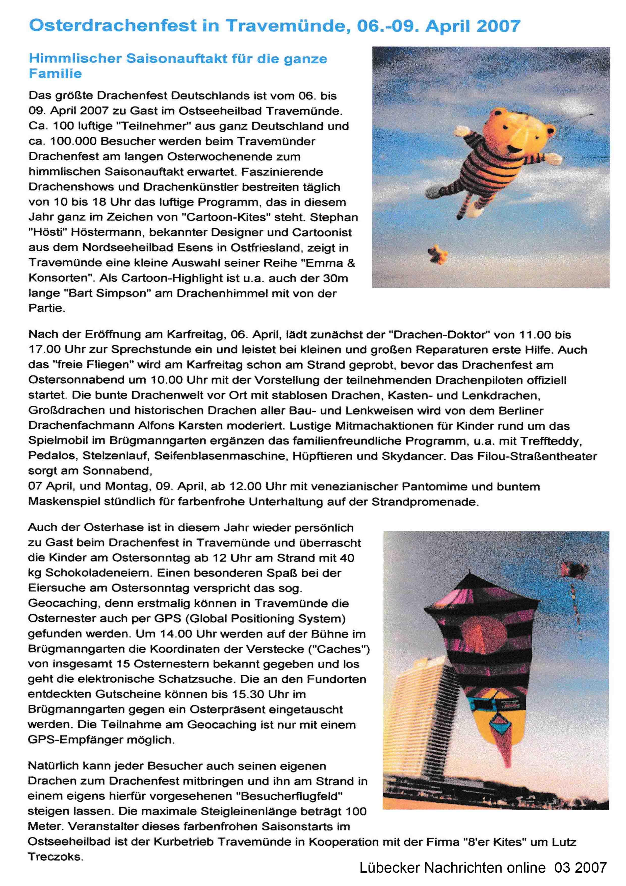 Lübecker Nachrichten online 03 2007