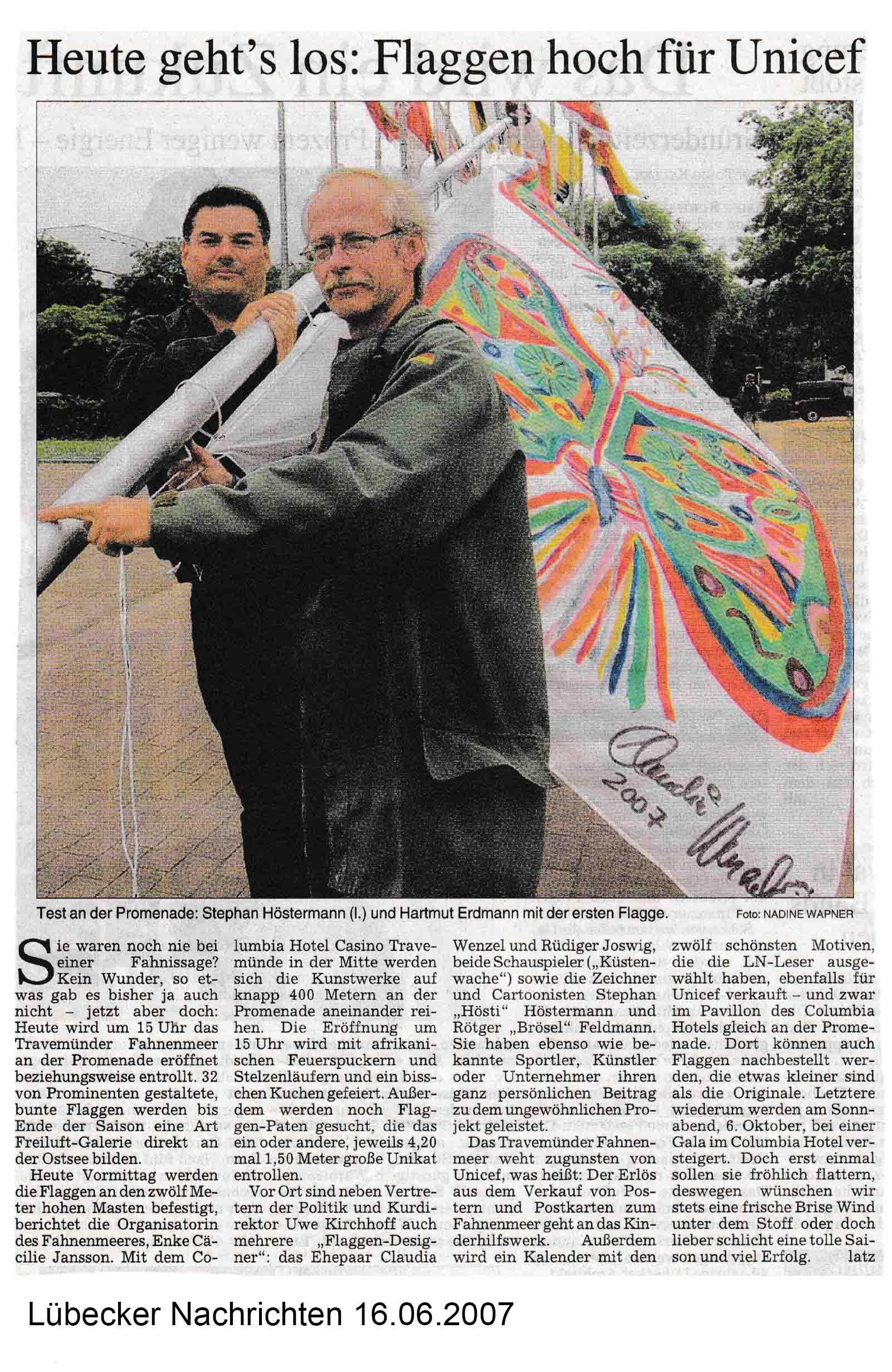 Lübecker Nachrichten16 06 2007