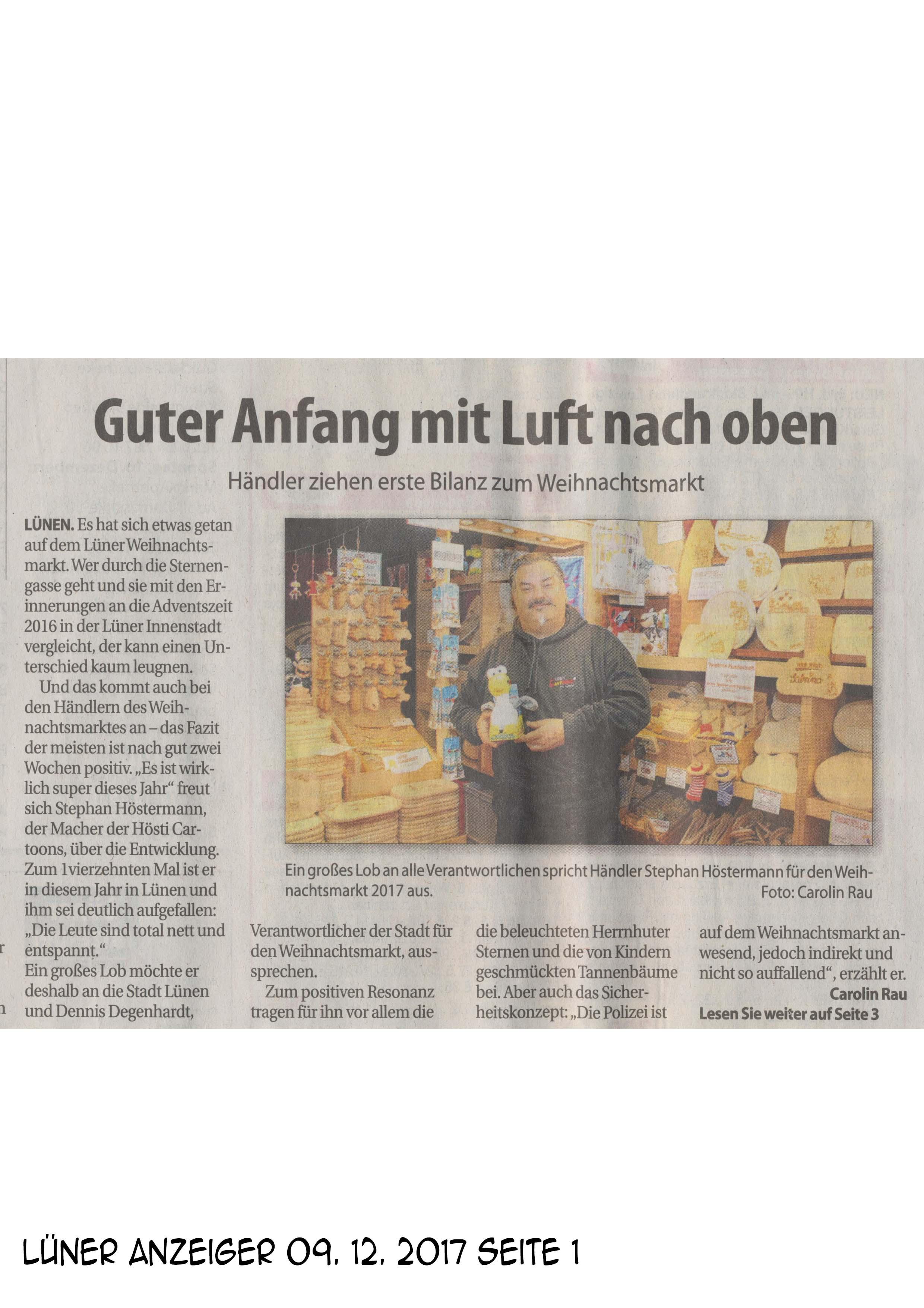 Lüner Anzeiger 09 12 2017 Seite 1