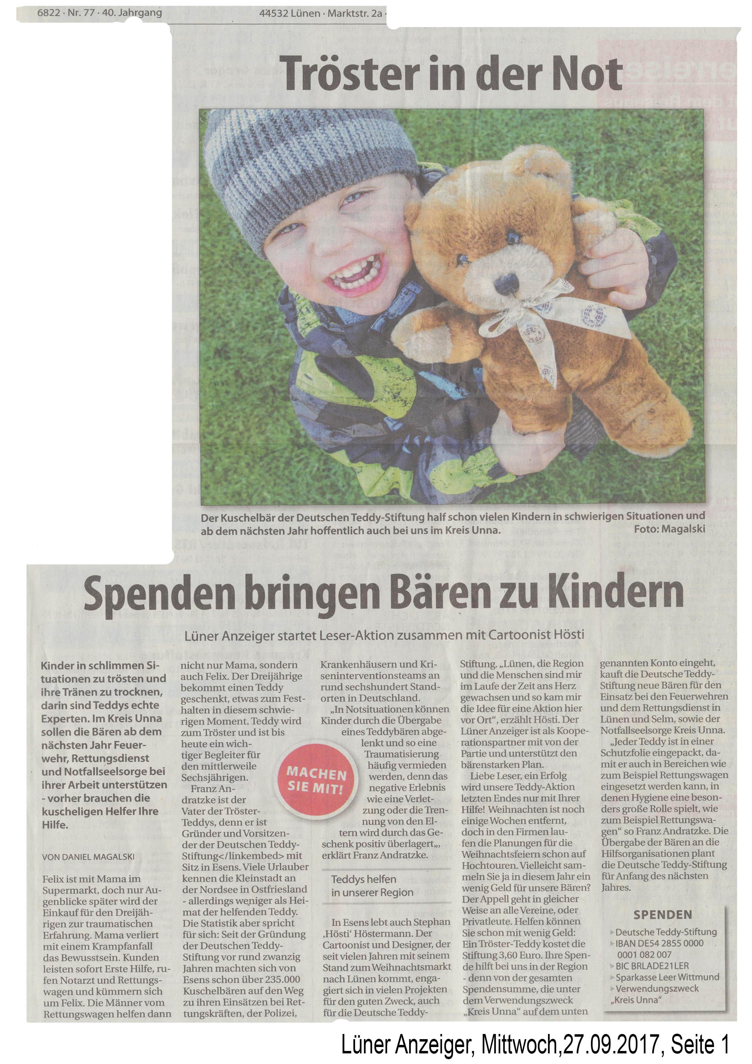 Lüner Anzeiger Lokalkompass 27.09