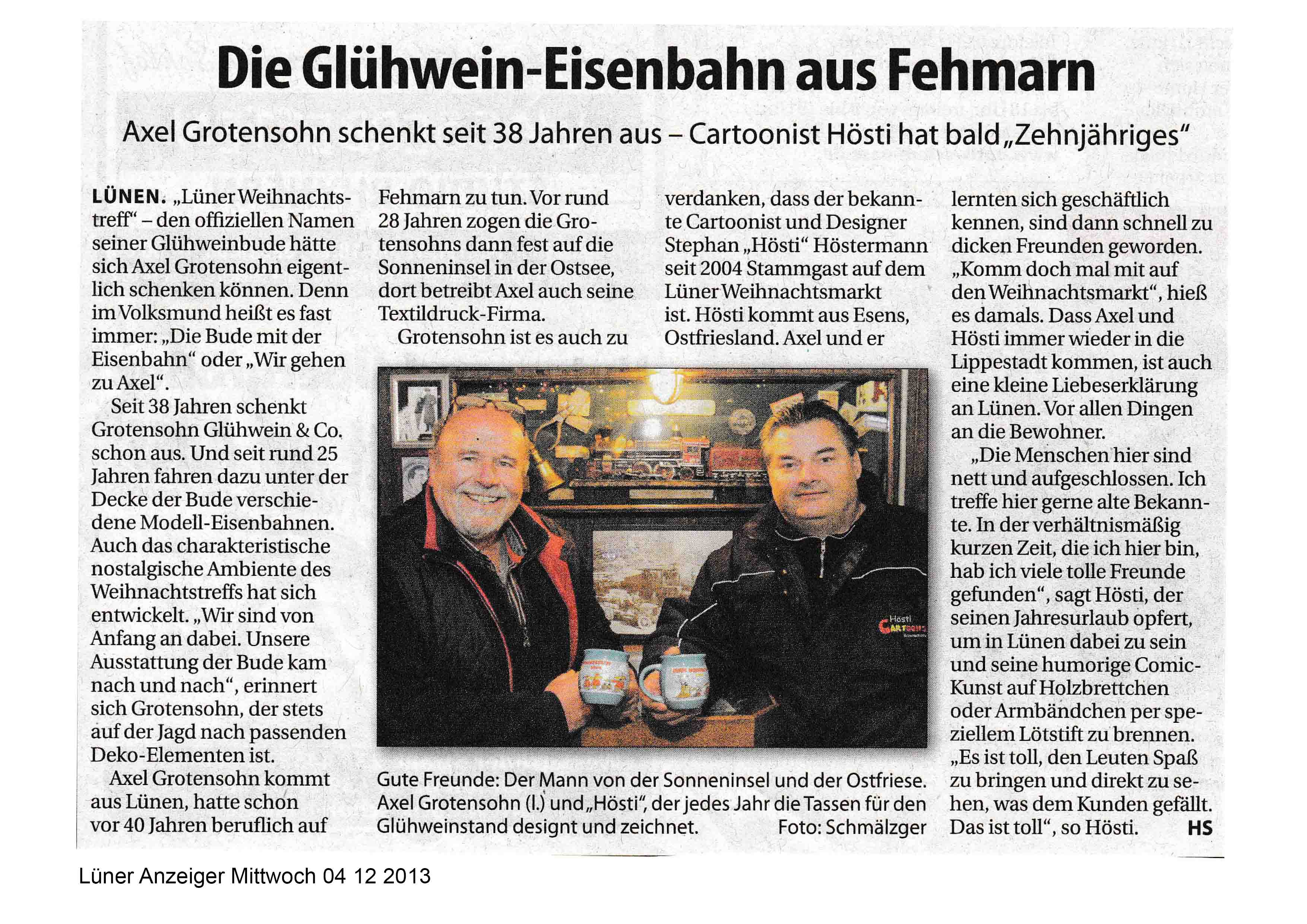 Lüner Anzeiger Mittwoch 04 12 2013