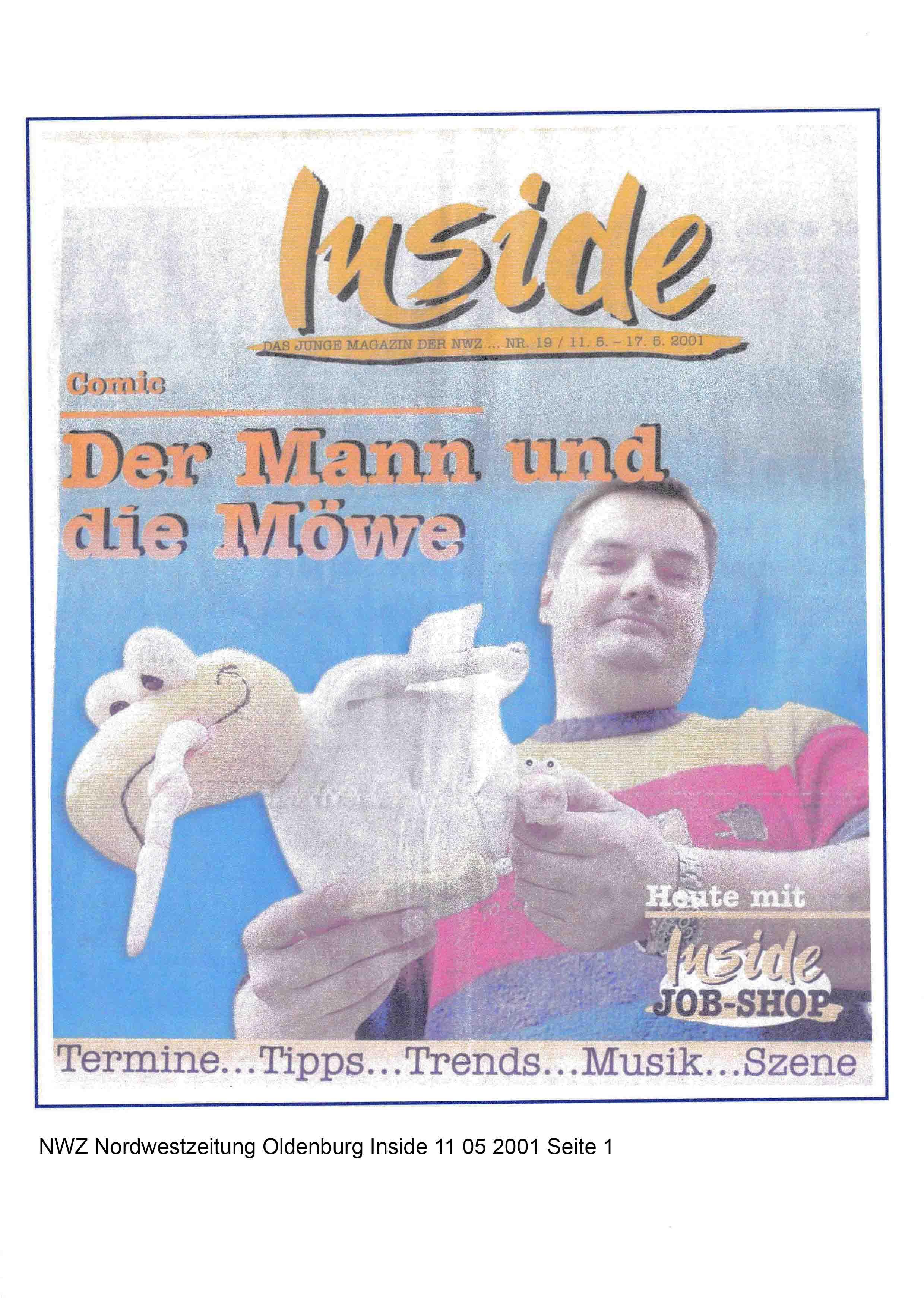 NWZ Nordwestzeitung Oldenburg Inside 11 05 2001 Seite 1
