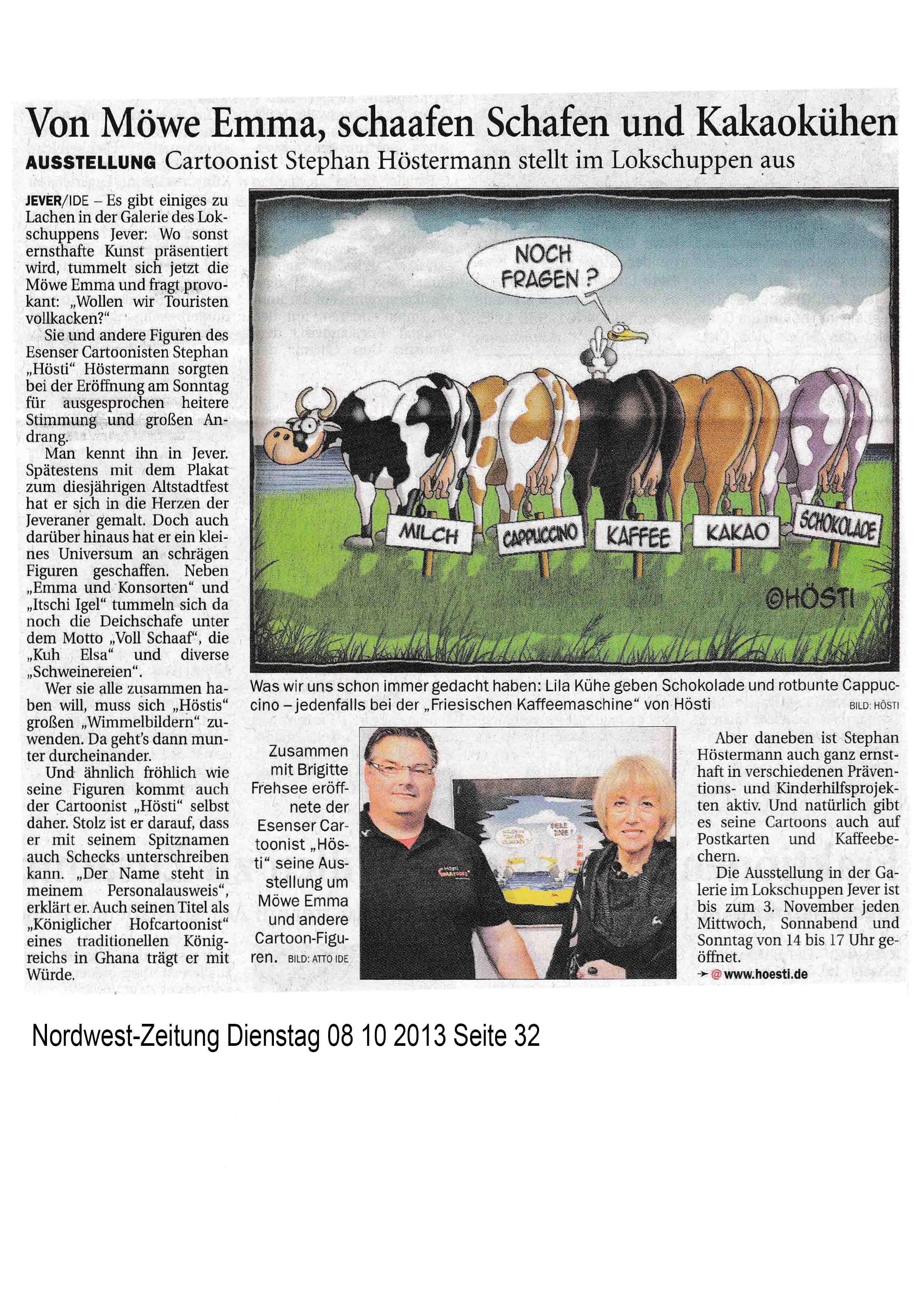 Nordwest-Zeitung Dienstag 08 10 2013 Seite 32