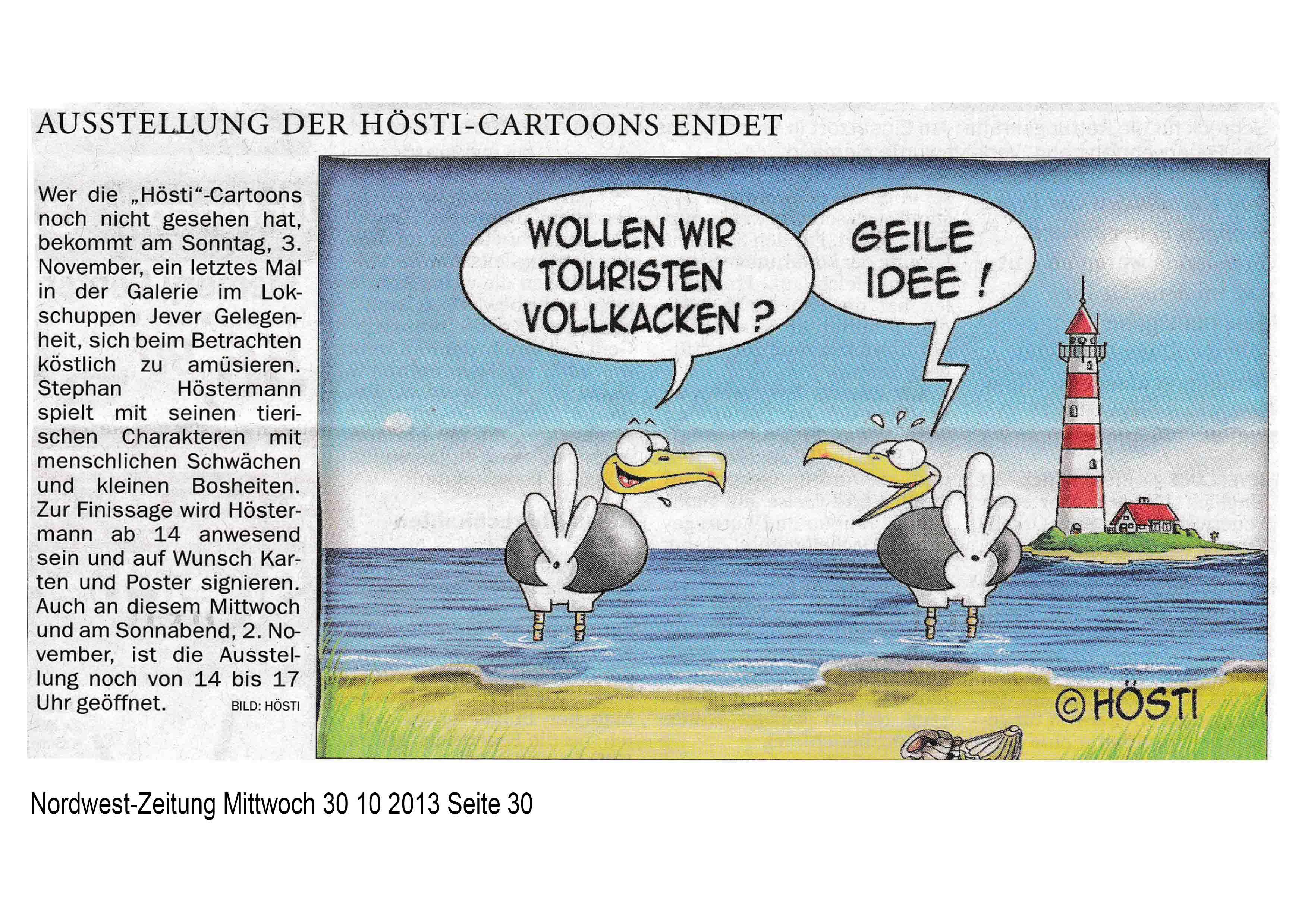 Nordwest-Zeitung Mittwoch 30 10 2013 Seite 30