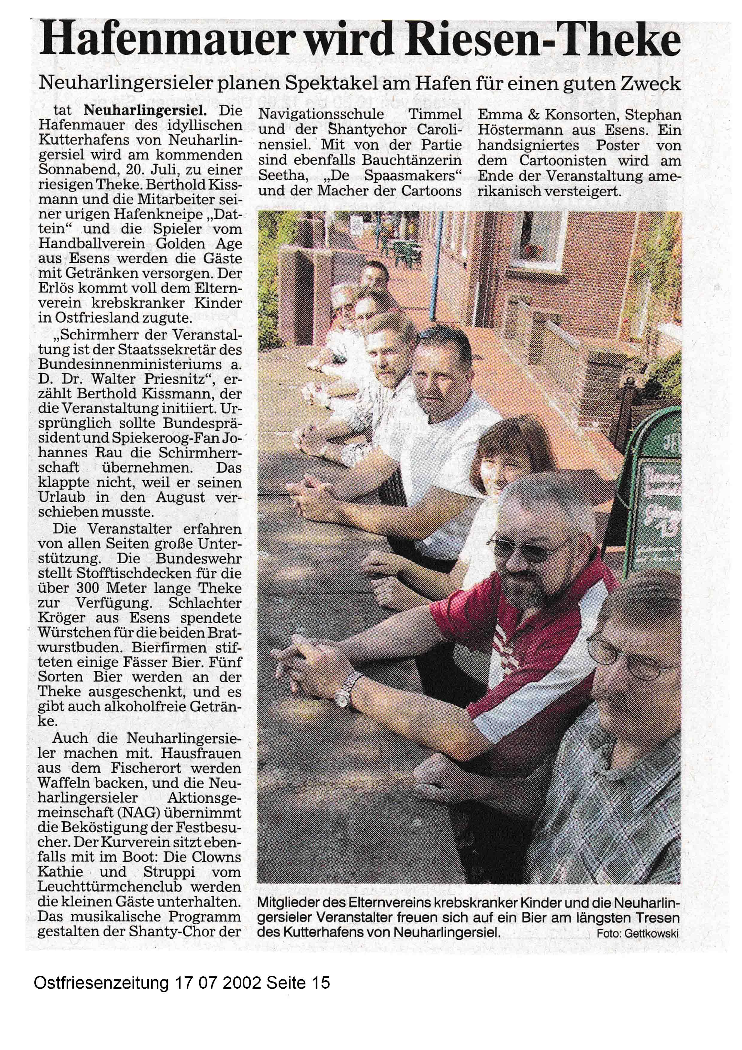 Ostfriesenzeitung 17 07 2002 Seite 15
