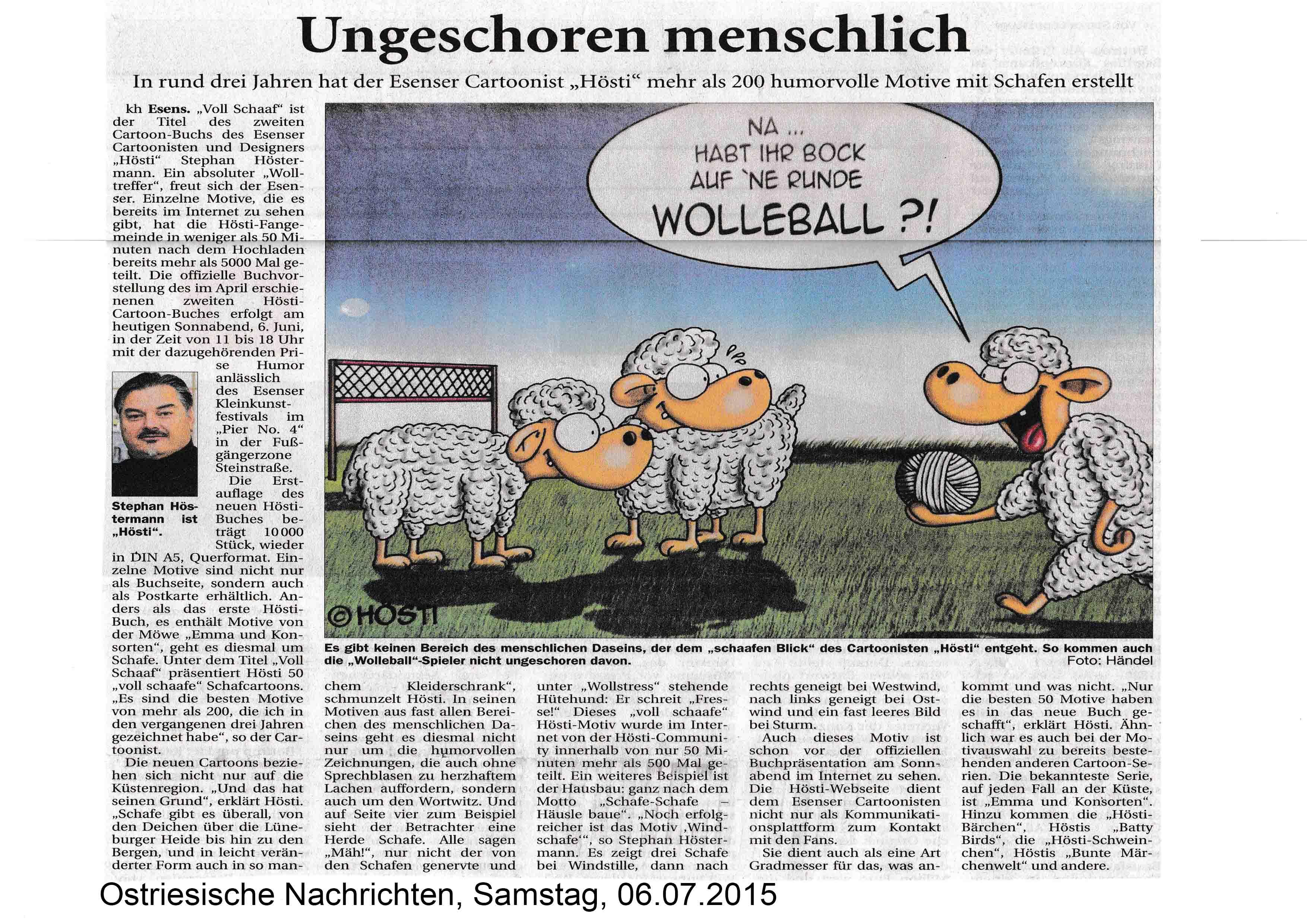 Ostriesische Nachrichten Samstag 06 07 2015