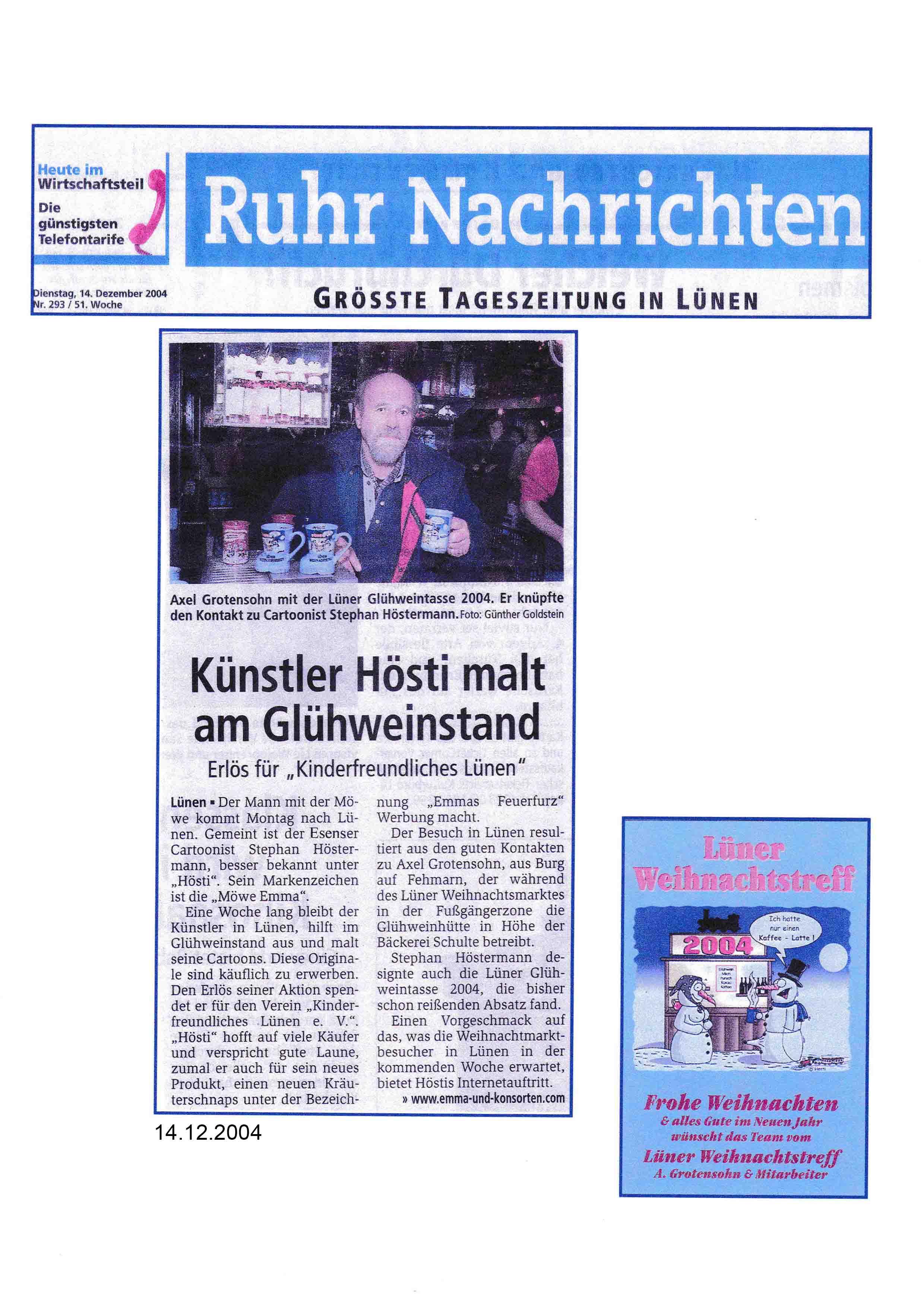 Ruhr Nachrichten Dienstag 14 12 2004 Seite 2