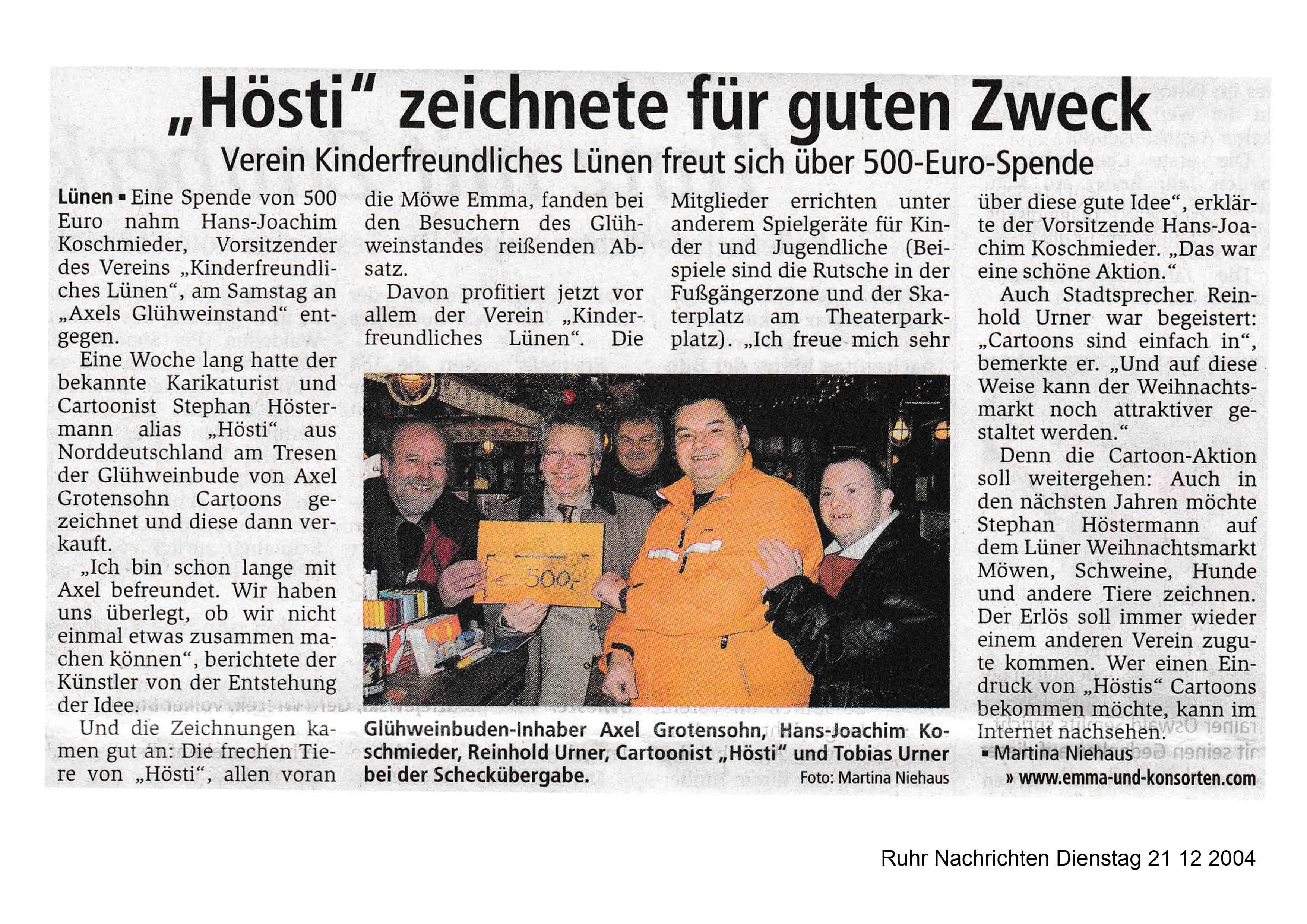 Ruhr Nachrichten Dienstag 21 12 2004