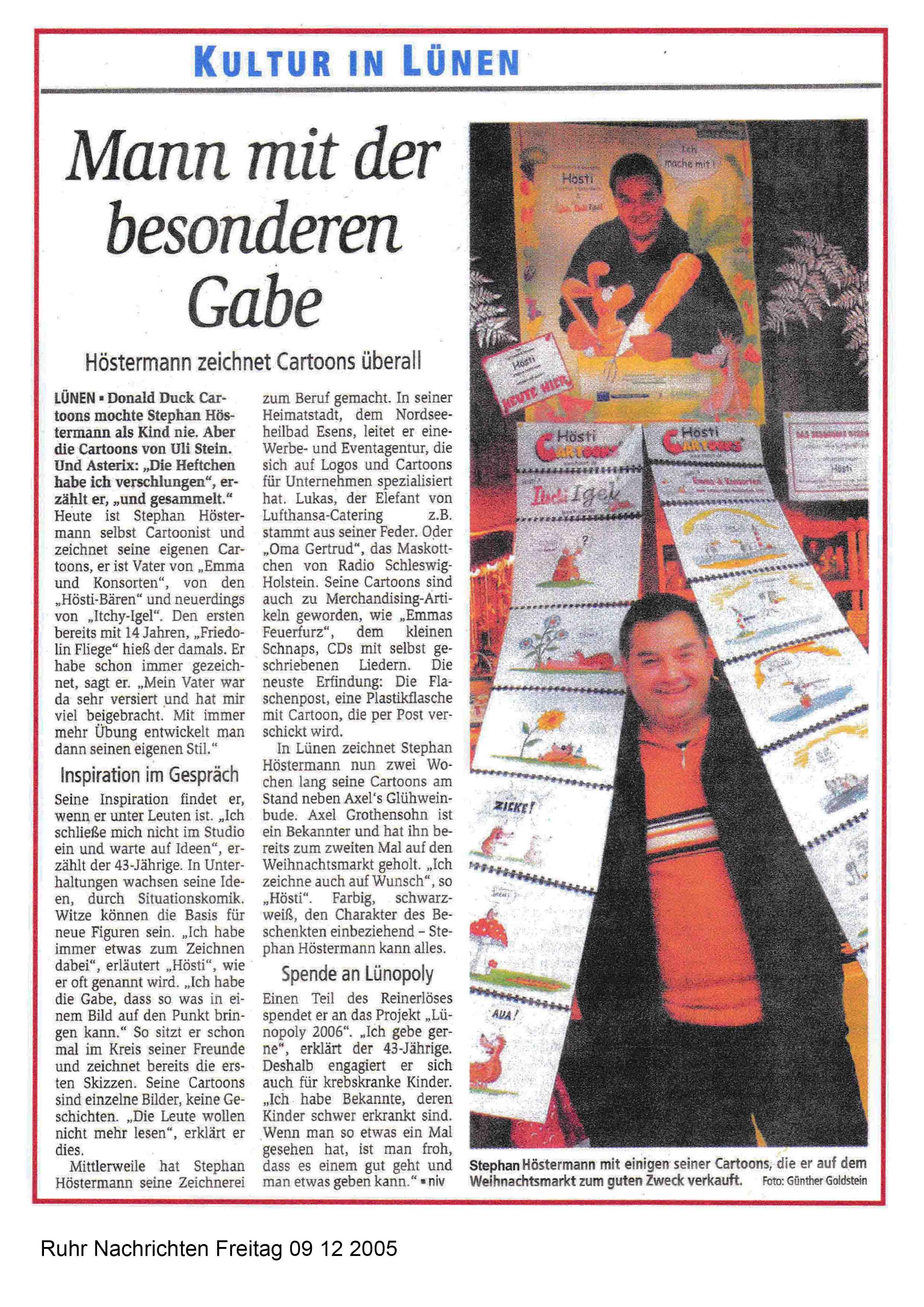Ruhr Nachrichten Freitag 09 12 2005