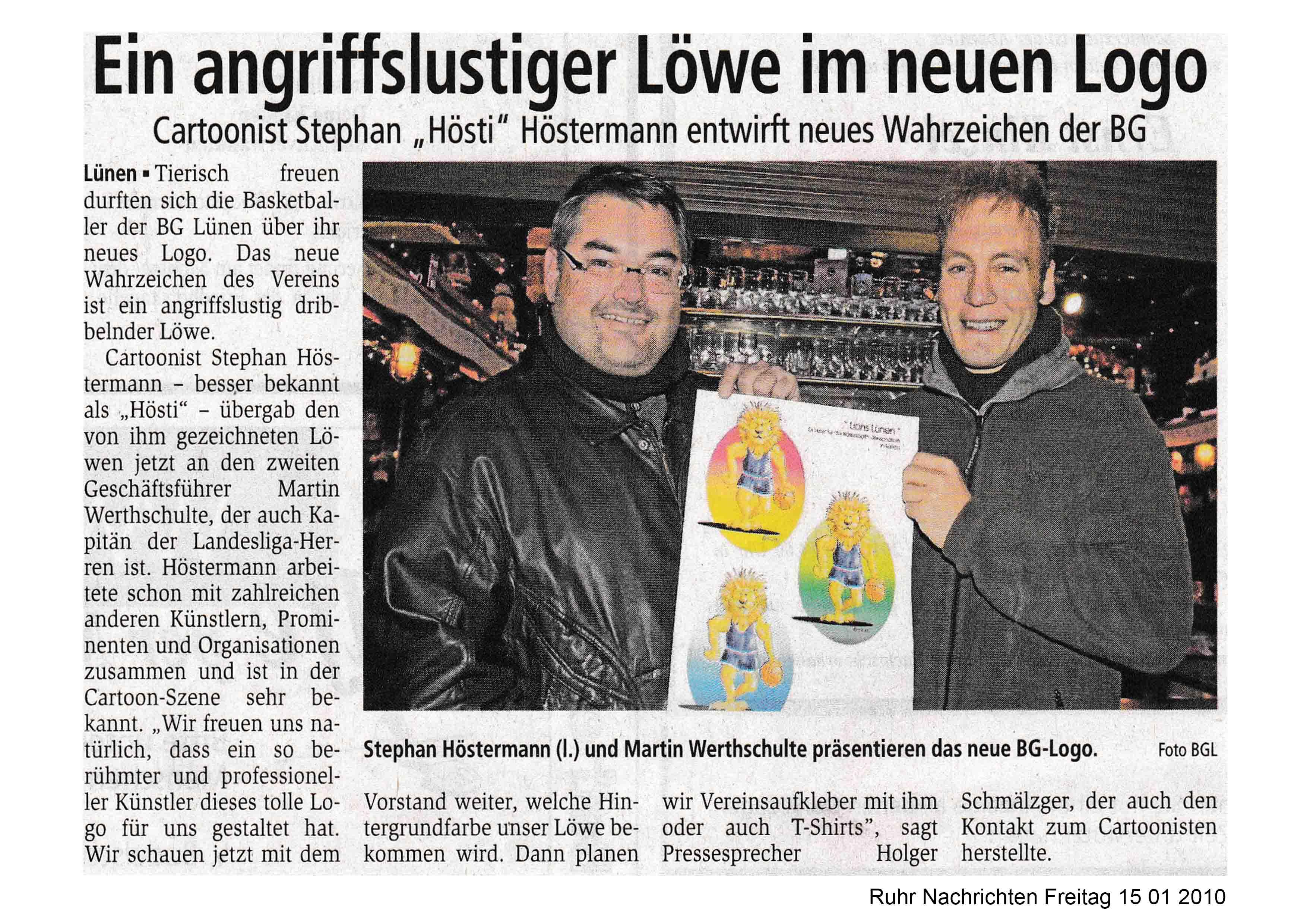 Ruhr Nachrichten Freitag 15 01 2010