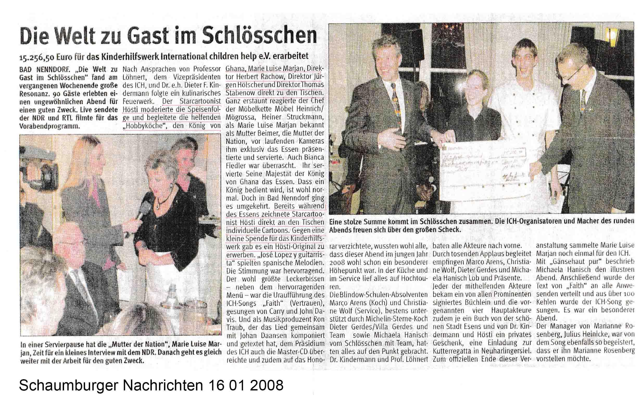 Schaumburger Nachrichten 16 01 2008