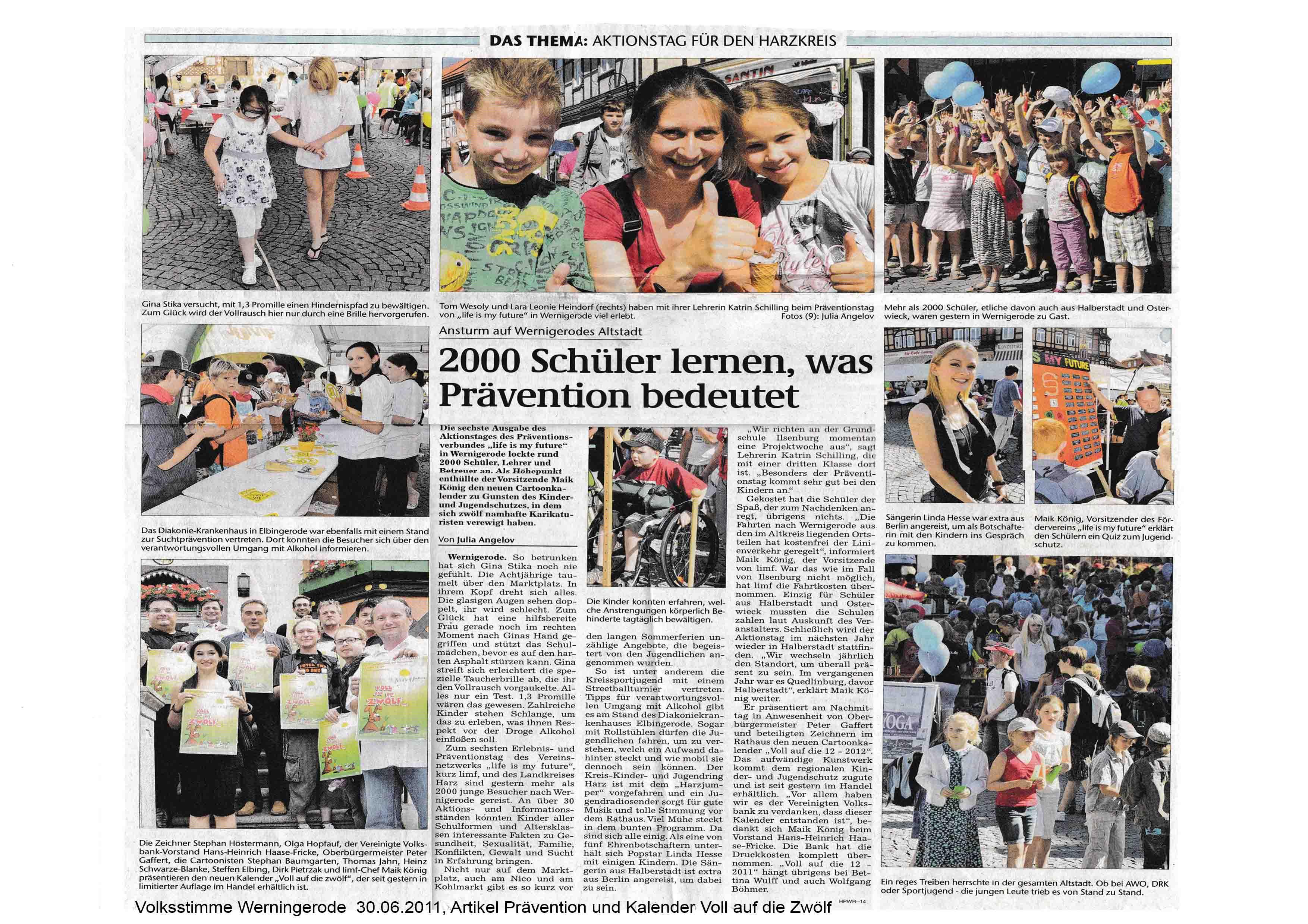 Volksstimme Werningerode 30 06 2011