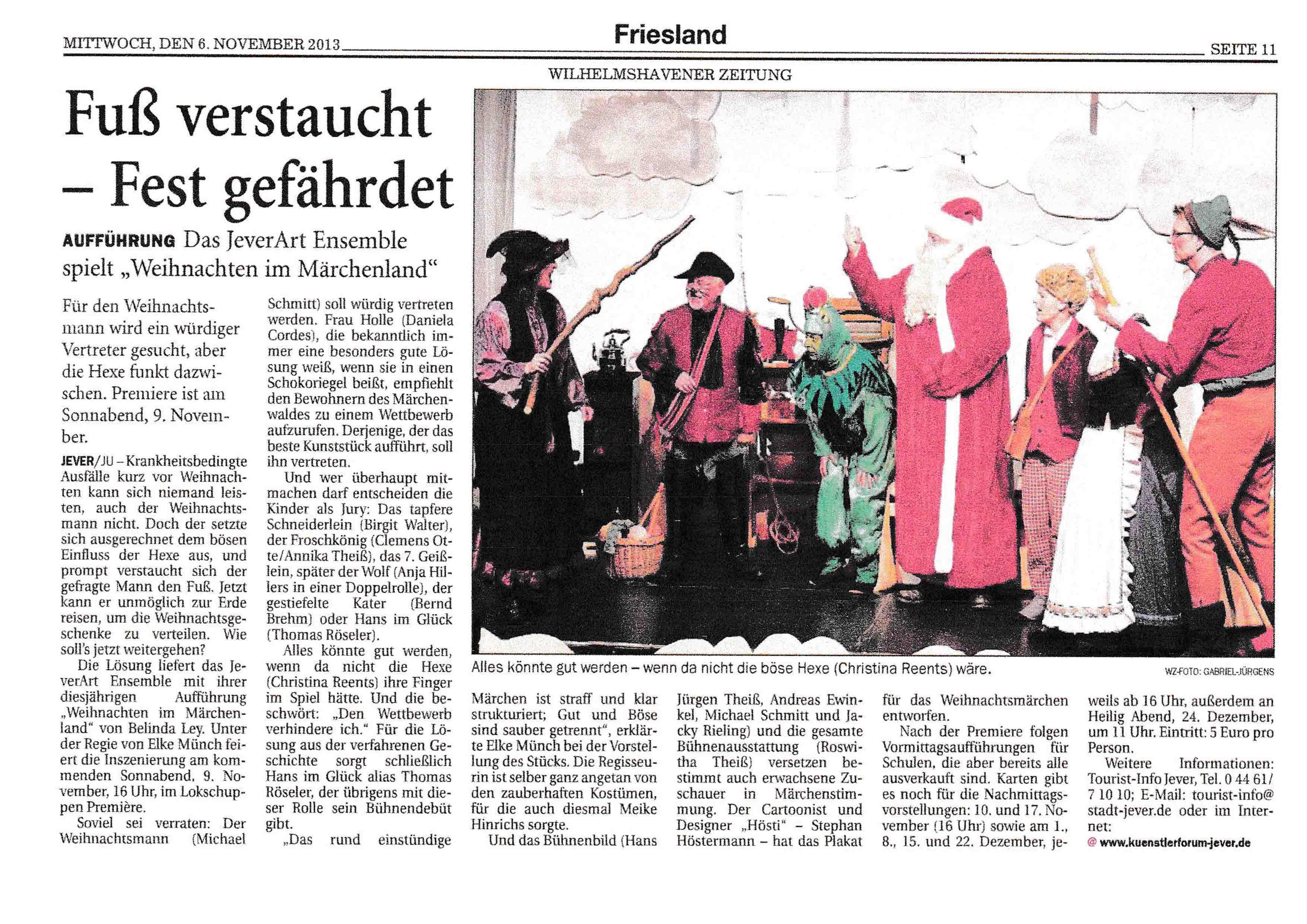 Wilhelmshavener Zeitung Mittwoch 06 11 2013