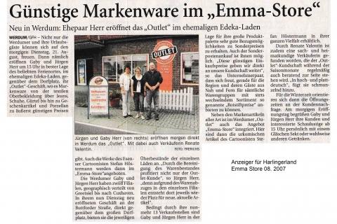 Anzeiger für Harlingerland Emma Store 08 2007