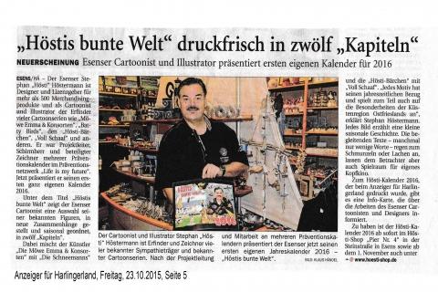 Anzeiger für Harlingerland Freitag 23 10 2015 Seite 5