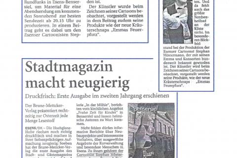 Anzeiger für Harlingerland Zeitungsartikel 2001