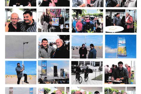 Bilder zum Fahnenmeer und ihren Künstlern in Travemünde 2007