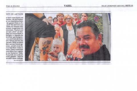 Dangast 1 19 07 2018 Nordwest Zeitung 20.07.2018  Seite 33