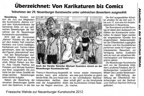 Friesische Wehde zur Neuenburger Kunstwoche 2012