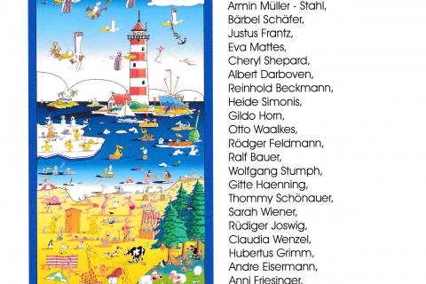 Höstis Beitrag zum Unicef Fahnenmeer Botschaften im Wind 2007 in Travemünde