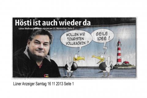 Lüner Anzeiger Samtag 16 11 2013 Seite 1