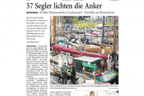 Nordwestzeitung NWZ Wattensail Carolinensiel Montag 14.08.2017 Seite 30